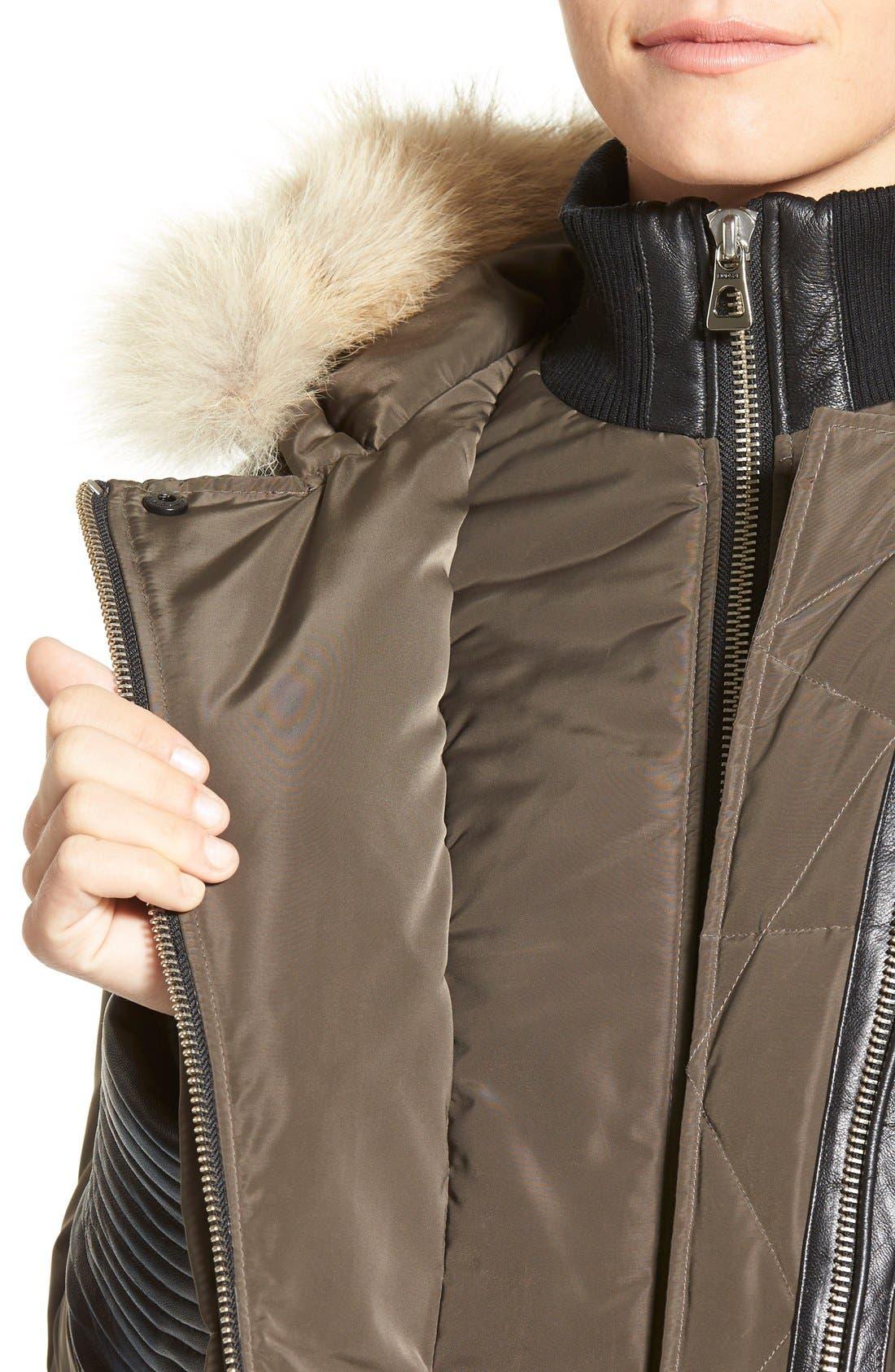 Alternate Image 4  - Rudsak 'Cally' Leather & Genuine Coyote Fur Trim Down Coat
