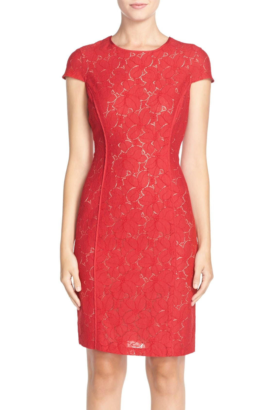 Alternate Image 1 Selected - Marc New York Lace Sheath Dress
