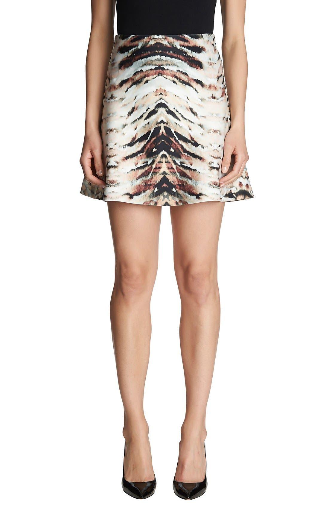Alternate Image 1 Selected - 1.STATE Animal Print Scuba Skirt