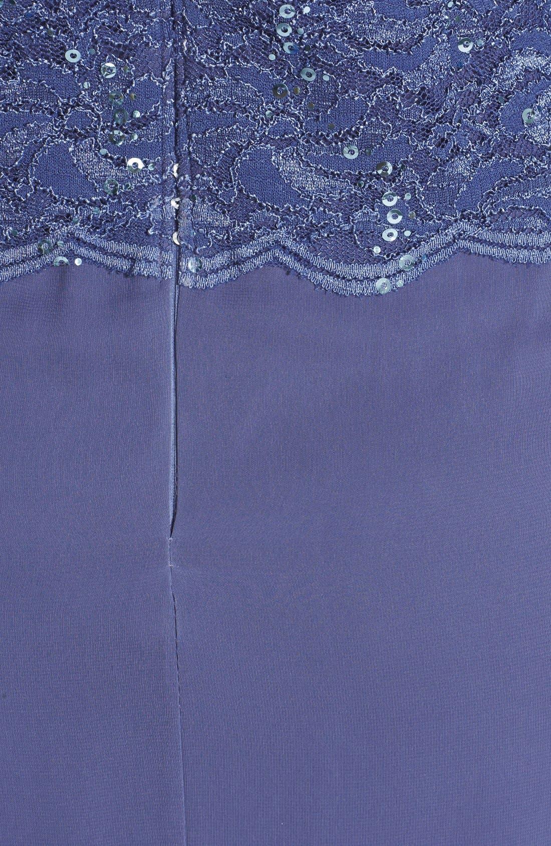 Alternate Image 3  - Alex Evenings Mock Two-Piece Dress (Regular & Petite)