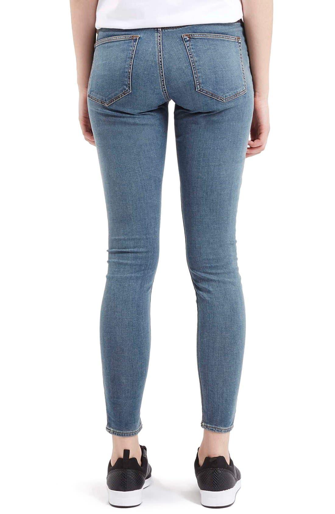 Alternate Image 3  - TopshopMoto'Leigh'AnkleSkinny Jeans (Light Denim)