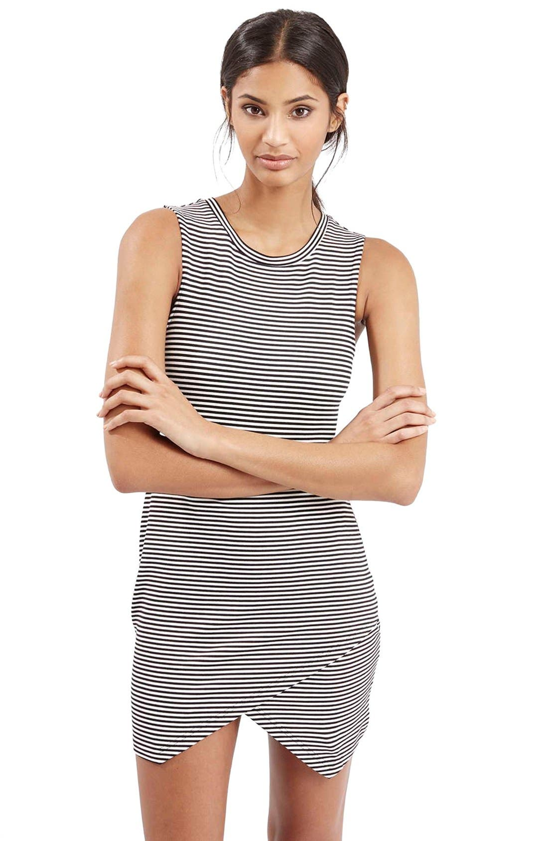 Alternate Image 1 Selected - TopshopStripe Body-Con Dress