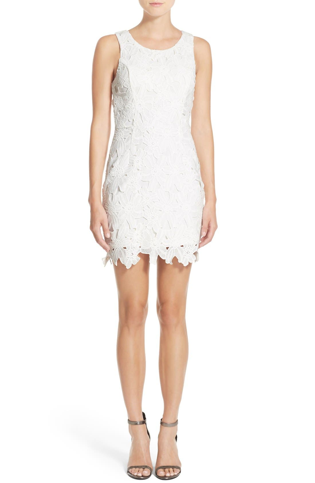 Alternate Image 1 Selected - ASTR the Label Textured Floral Body-Con Dress