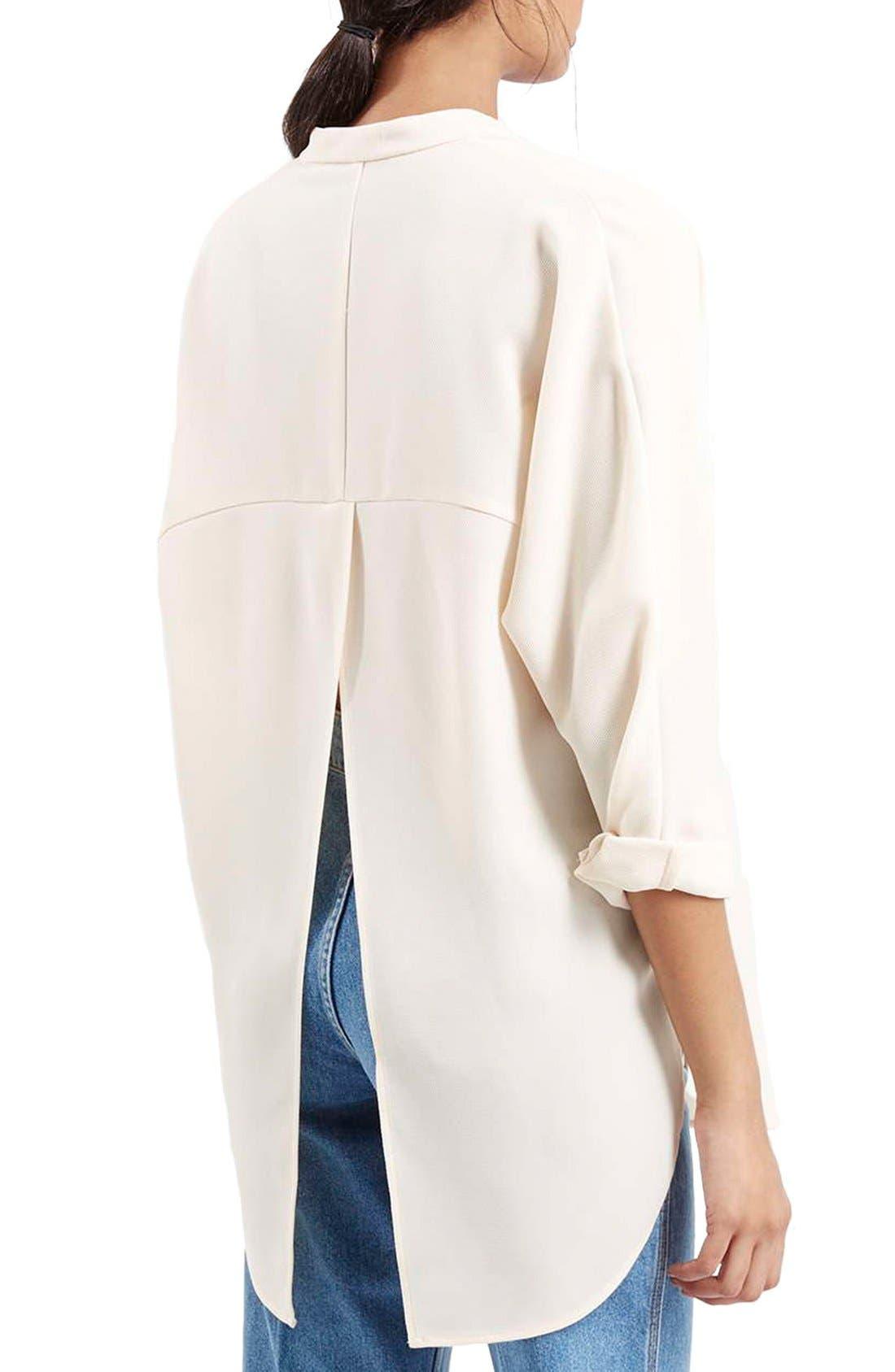 Alternate Image 3  - TopshopSplit Back High/Low TunicShirt