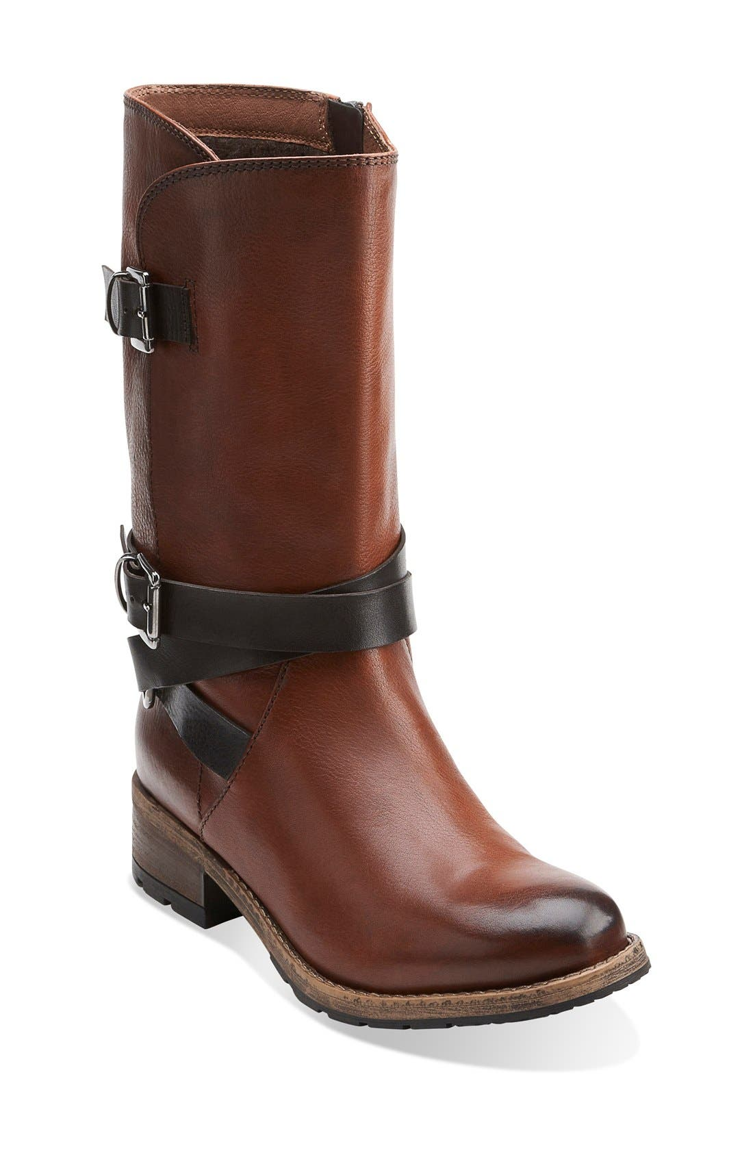 Alternate Image 1 Selected - Clarks® 'Volara Melody' Moto Boot (Women)