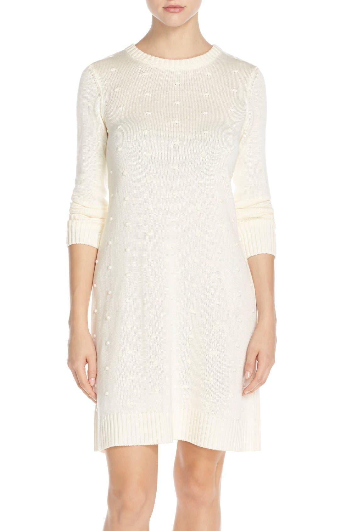 Main Image - Eliza J NubbyKnit Shift Sweater Dress