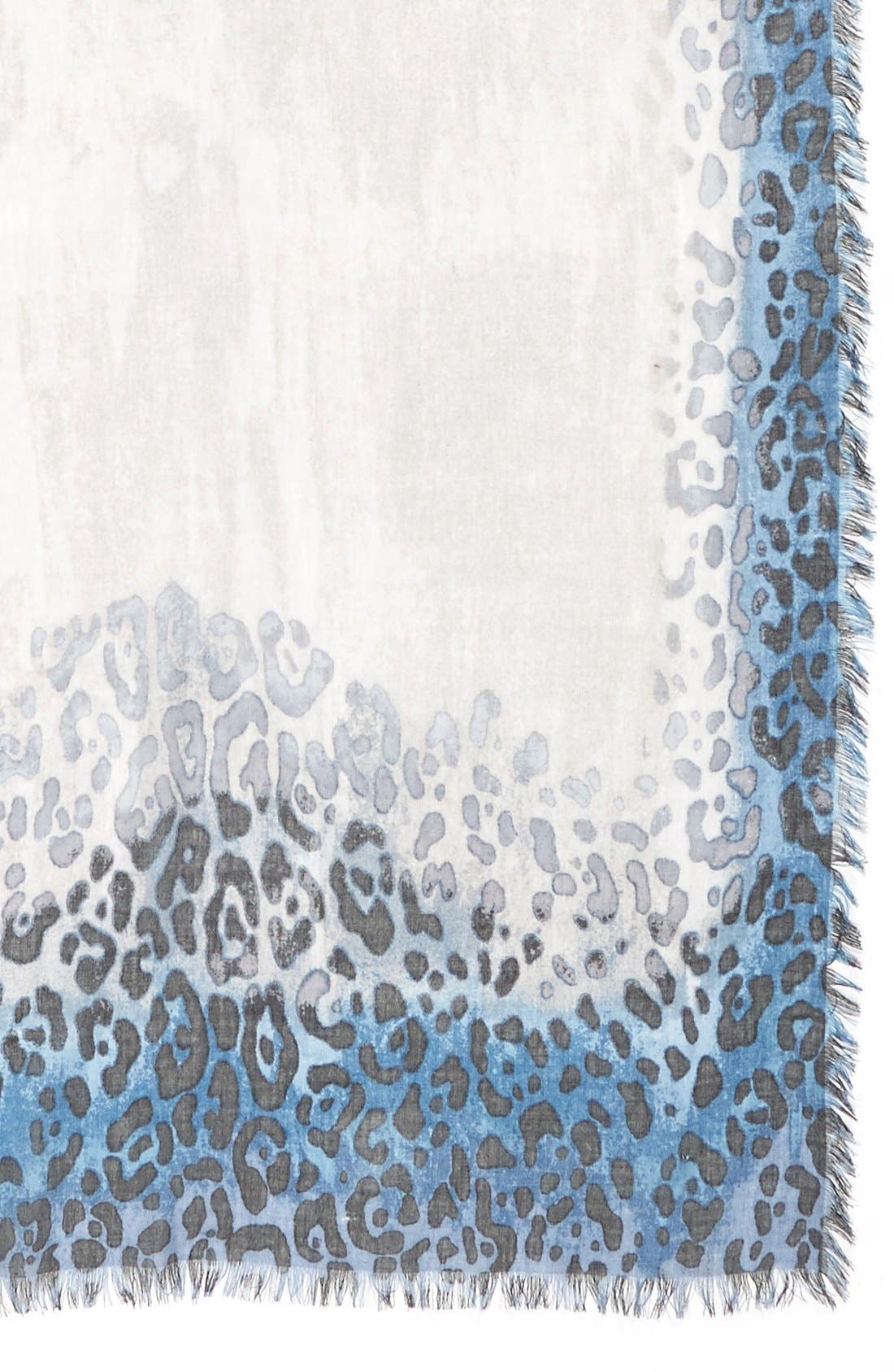 Alternate Image 3  - Nordstrom Leopard PrintCashmere & Silk Scarf
