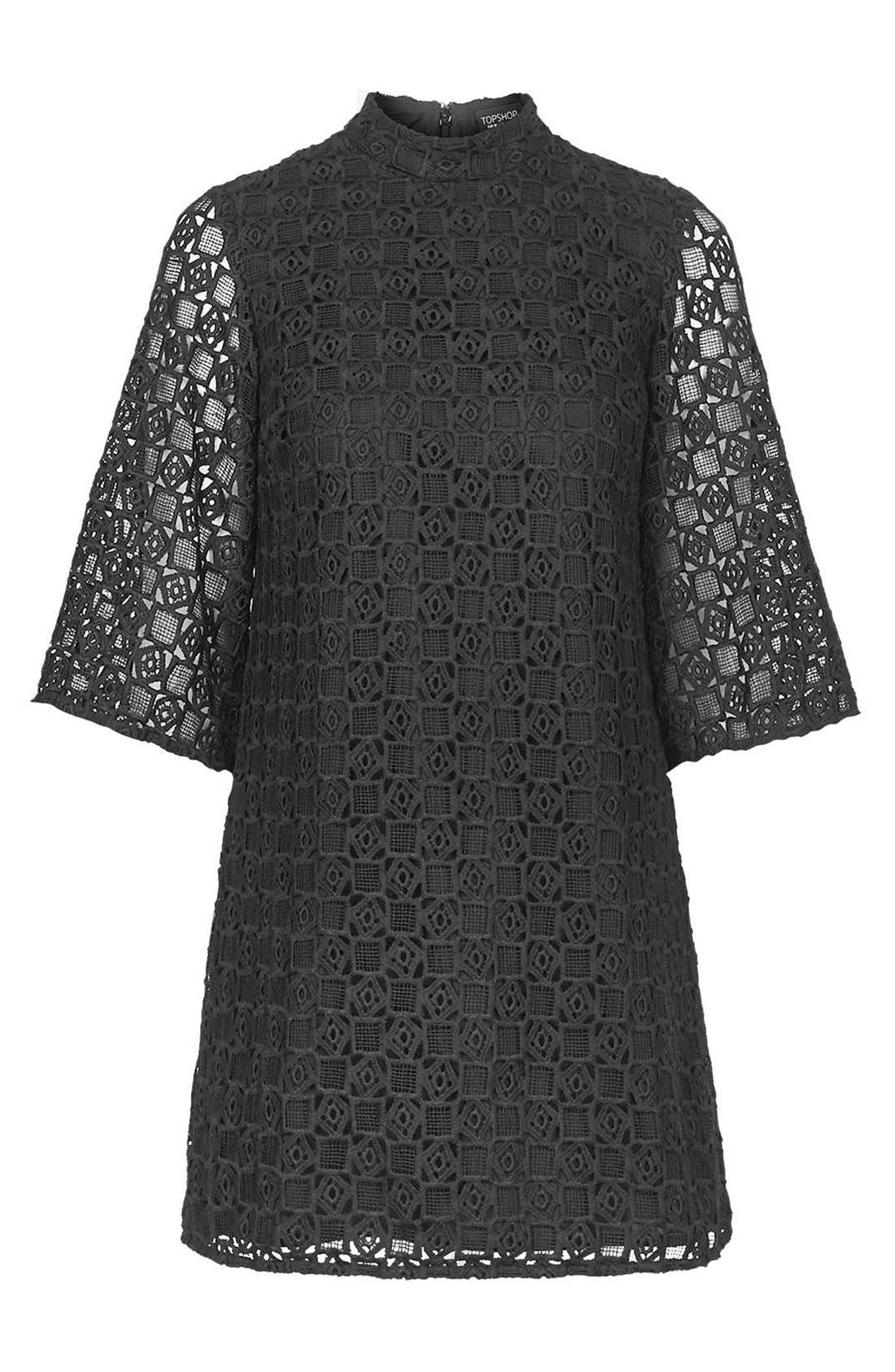 Alternate Image 4  - Topshop Bell Sleeve Lace Dress