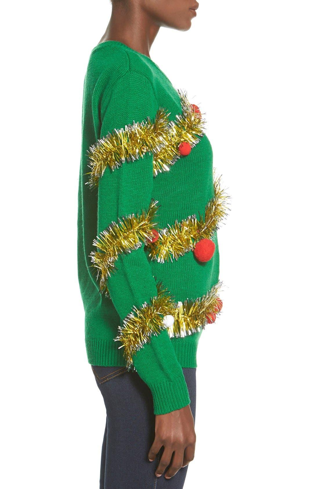Alternate Image 3  - Ten Sixty Sherman Tinsel Ball Christmas Sweater