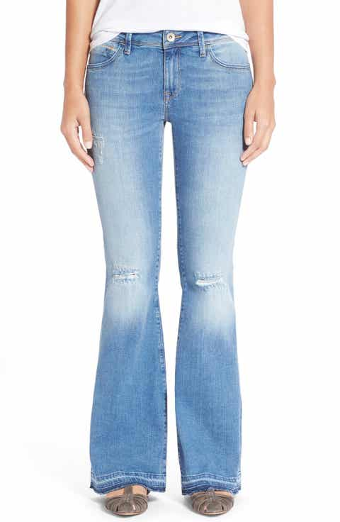 Mavi Jeans 'Peace' Stretch Flare Leg Jeans (Light Ripped) - Flare Jeans For Women: Slim, Stretch & Ultra Flare Nordstrom