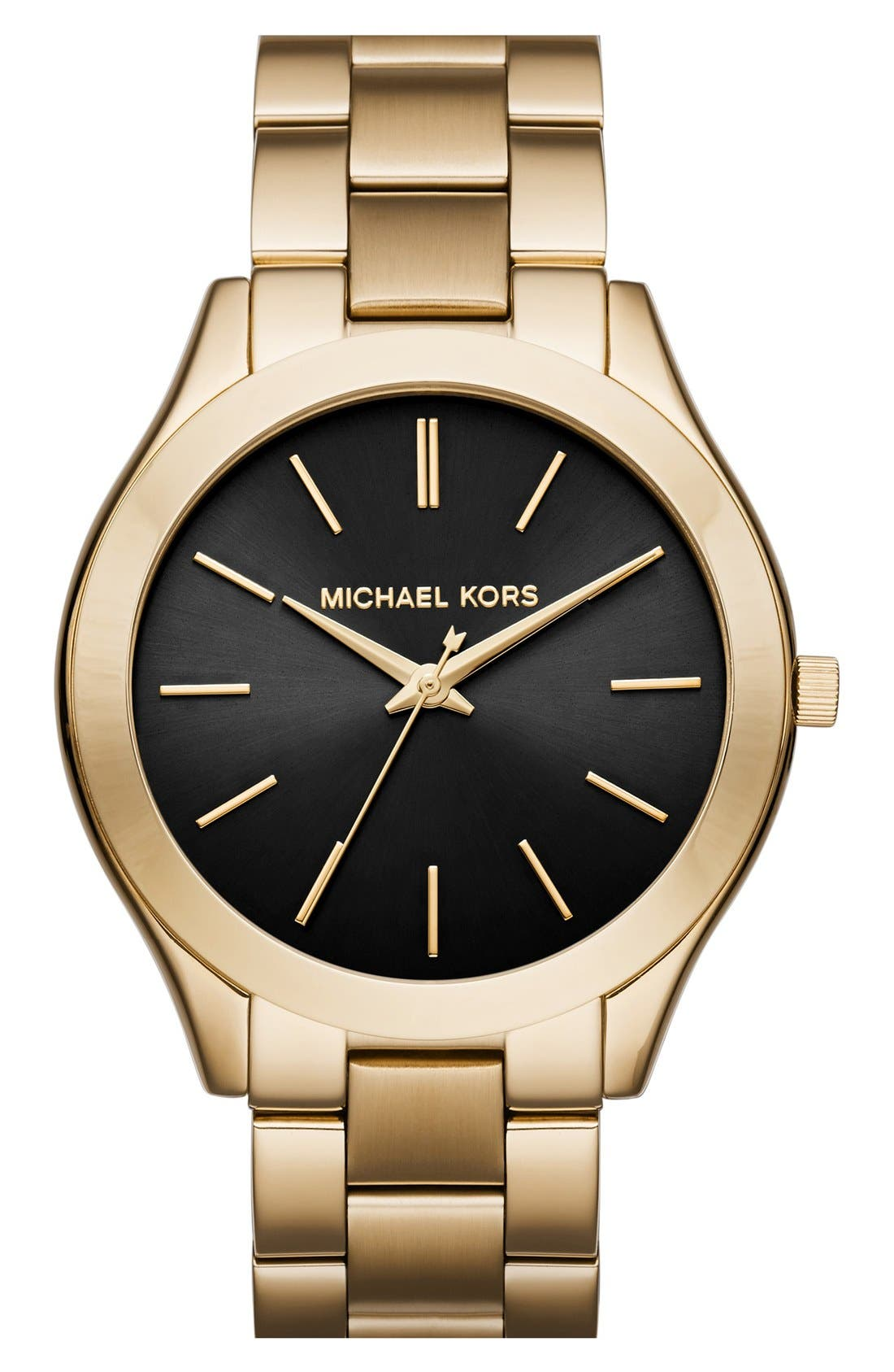 Alternate Image 1 Selected - MICHAEL Michael Kors 'Slim Runway' Bracelet Watch, 42mm