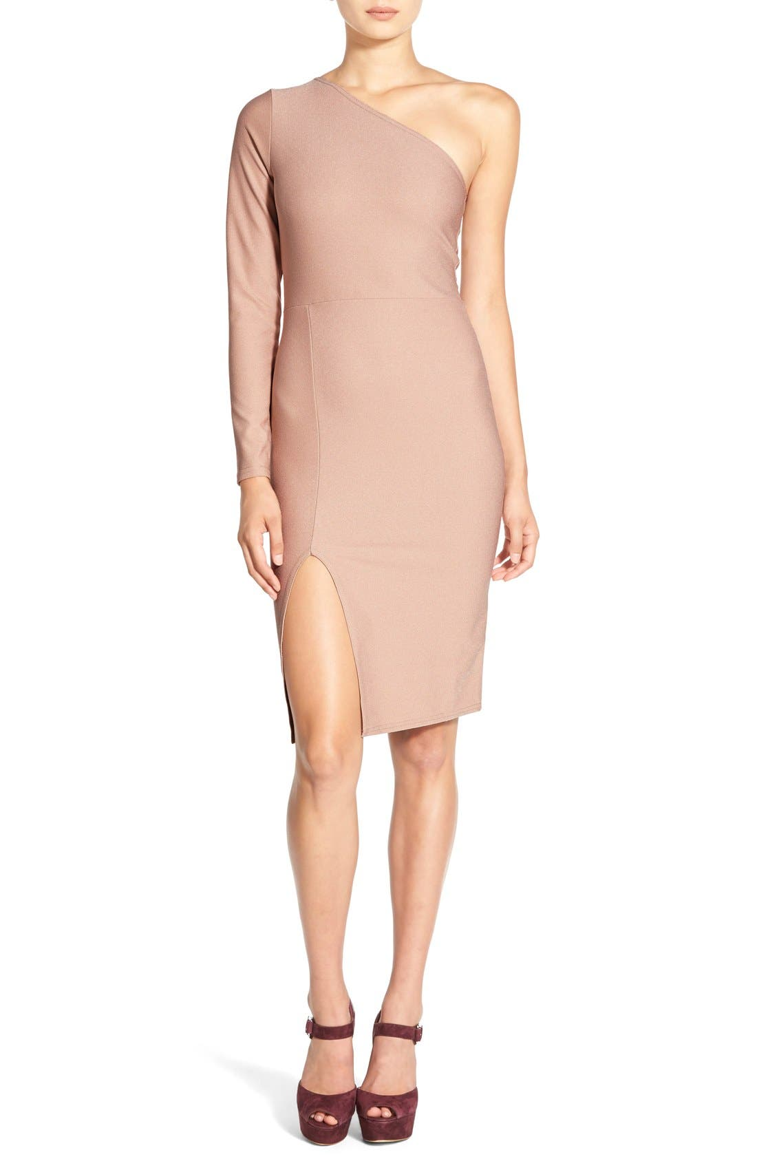 Alternate Image 1 Selected - MissguidedOne-Shoulder Body-Con Dress