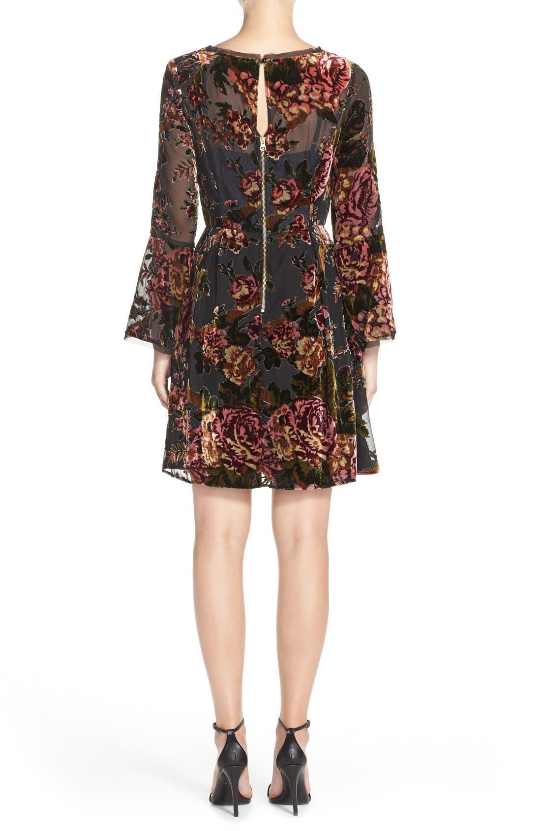 Alternate Image 2  - KUTfrom the KlothBurnout Velvet Fit & Flare Dress