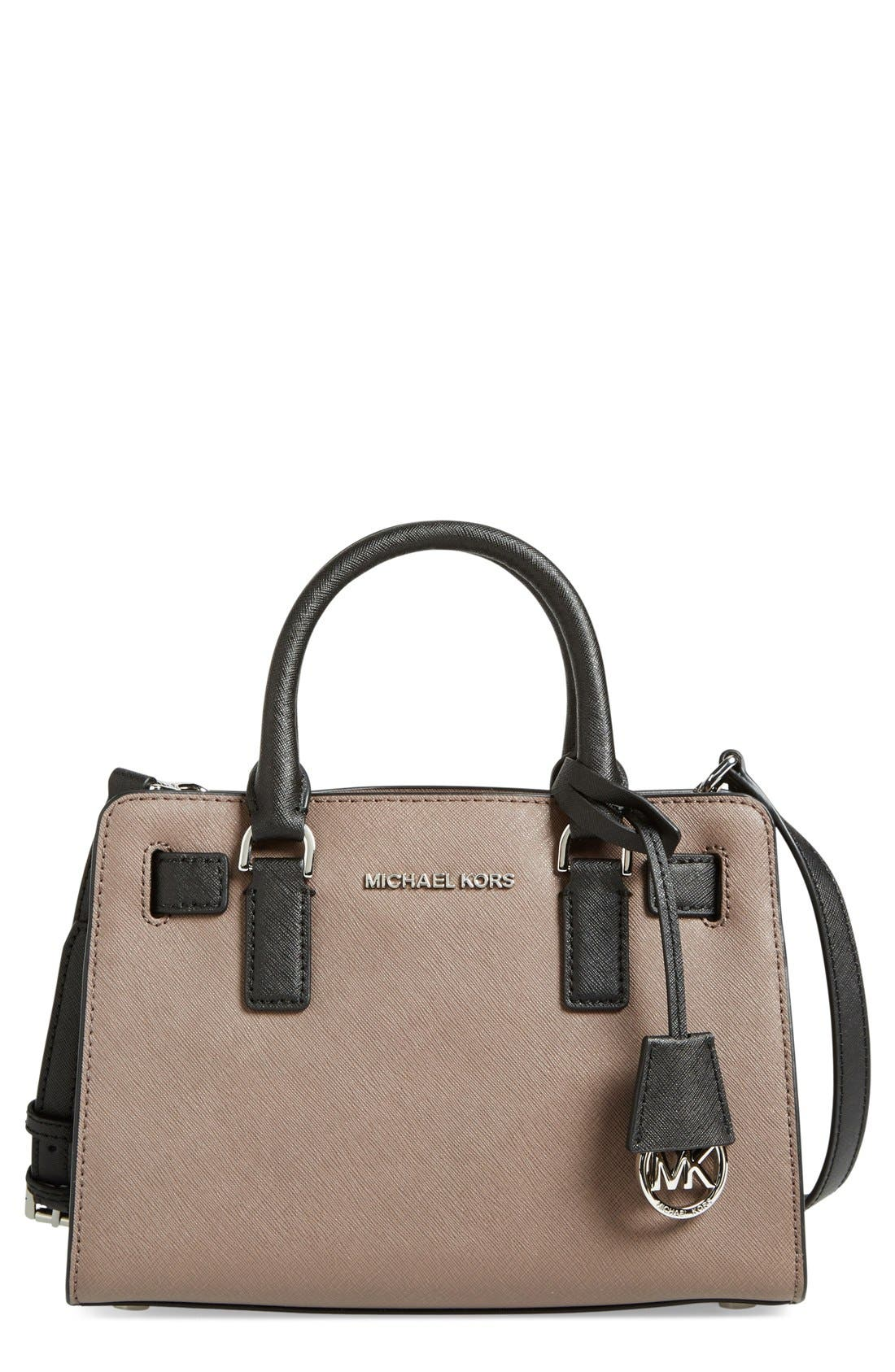 Alternate Image 1 Selected - MICHAEL Michael Kors 'Small' Bicolor Saffiano Leather Satchel