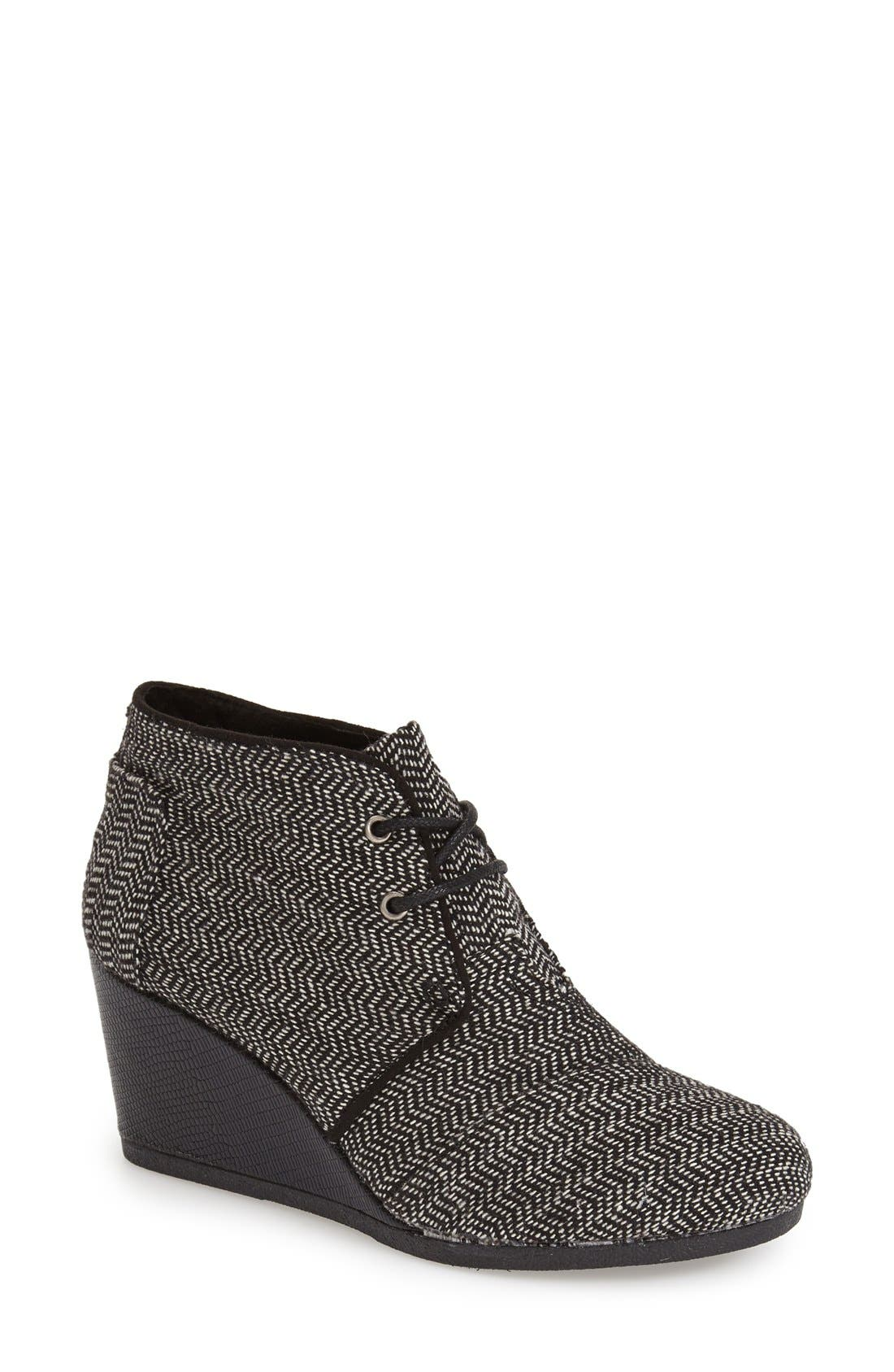 Alternate Image 1 Selected - TOMS 'Desert' Wedge Bootie (Women)