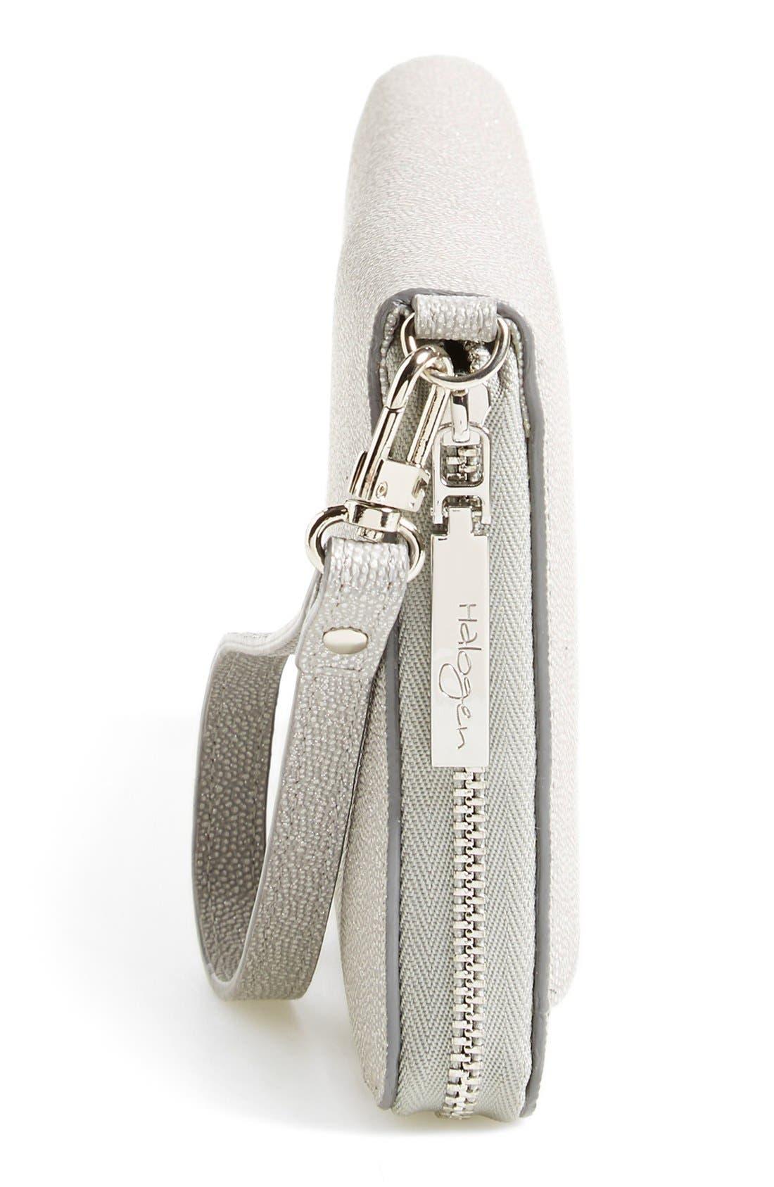 Alternate Image 6  - Halogen® Zip Around Leather Wallet