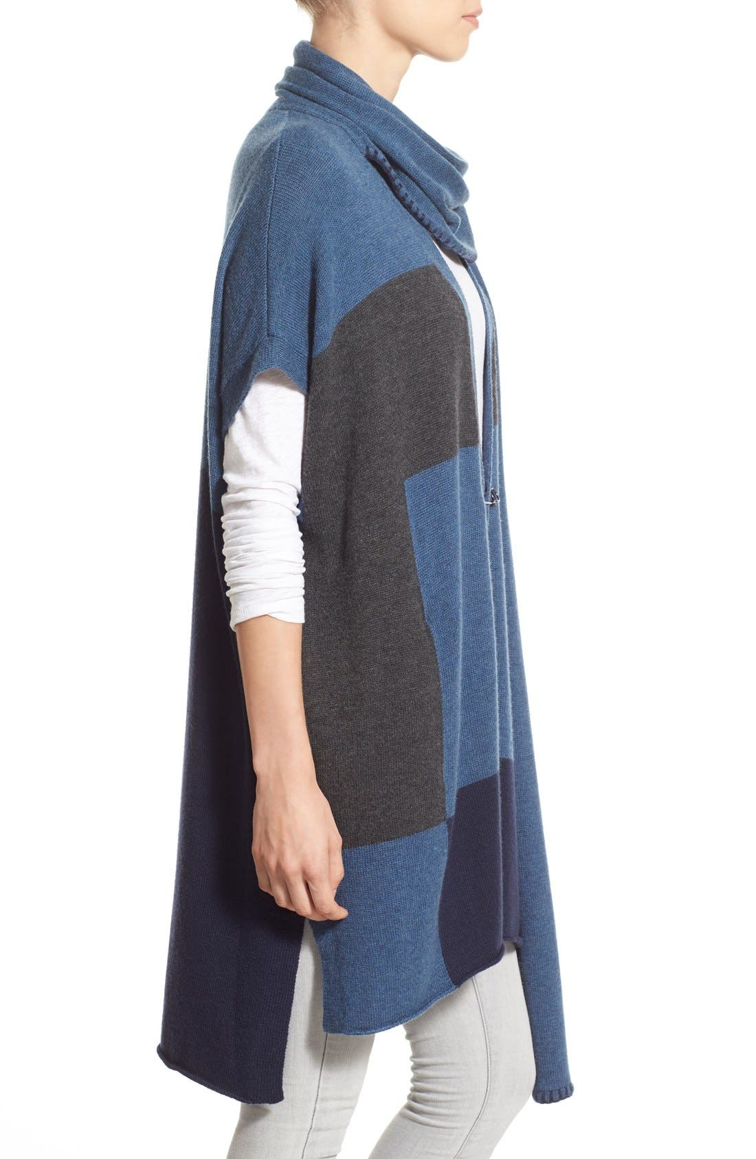 Alternate Image 3  - Paige Denim 'Ruth' Long Open Cardigan with Attached Scarf