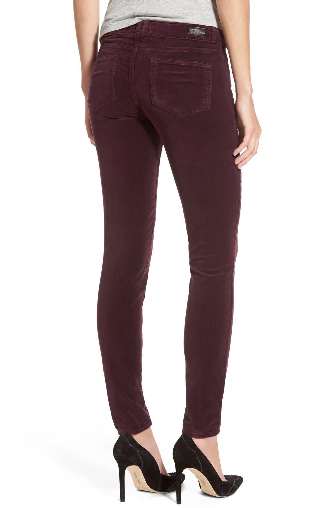 Alternate Image 3  - Paige Denim 'Verdugo' Velvet Ultra Skinny Jeans (Juliet)