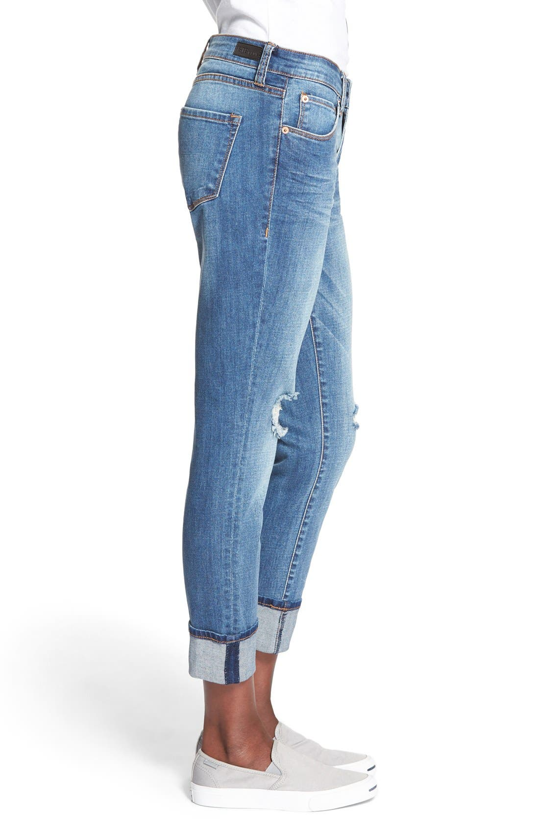 Alternate Image 4  - STS Blue 'Tomboy' High Rise Boyfriend Jeans (Pismo Beach)