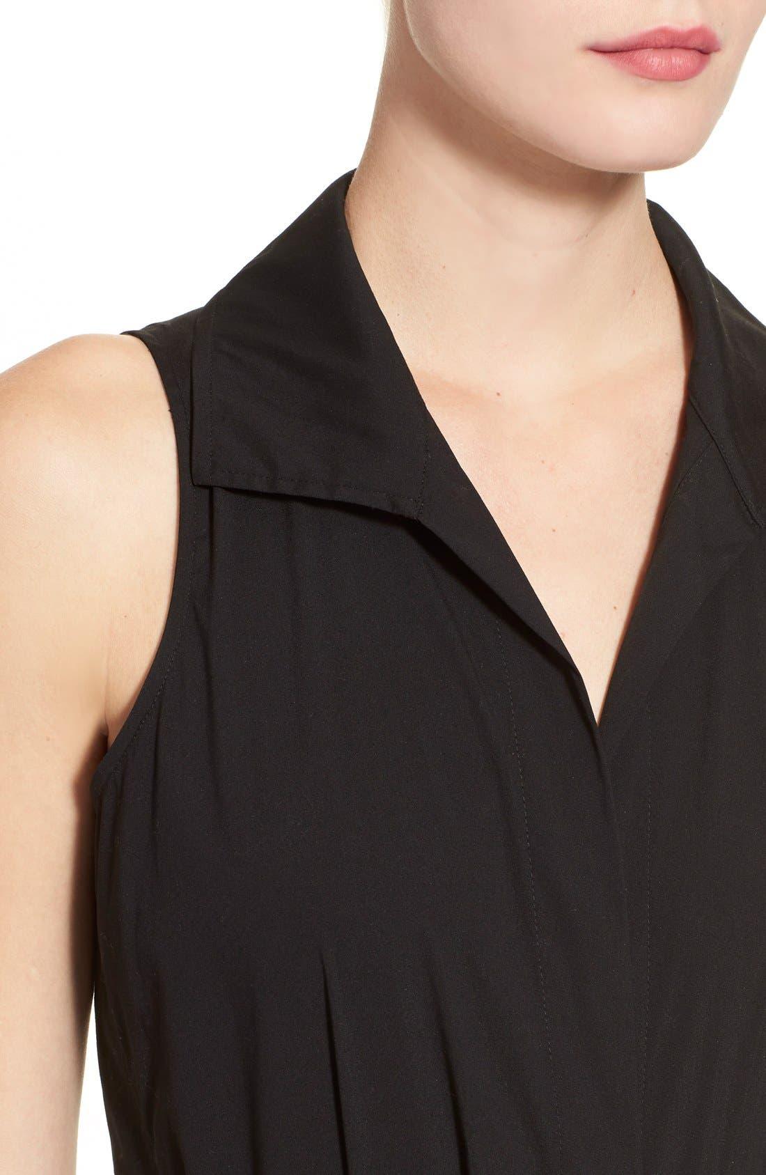 Alternate Image 6  - Donna KaranNew York SleevelessStretch Cotton Bodysuit