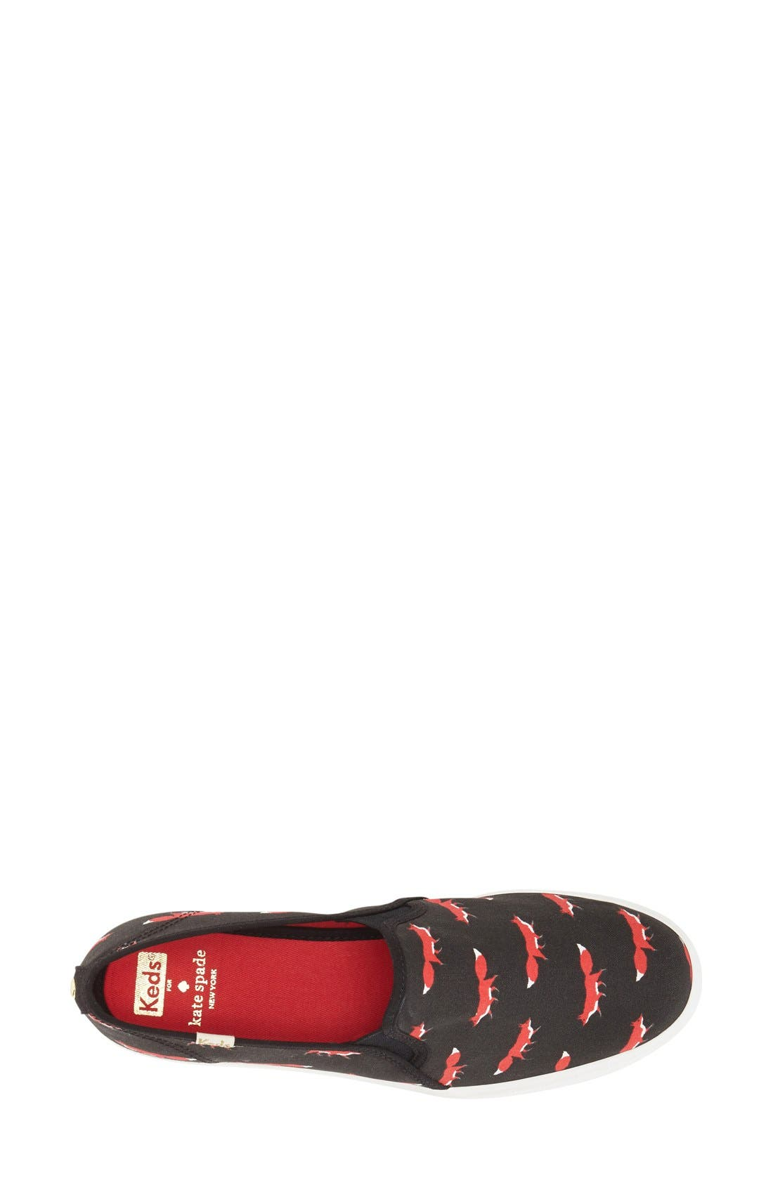 Alternate Image 3  - Keds® for kate spade new york 'decker' fox print sneaker (Women)