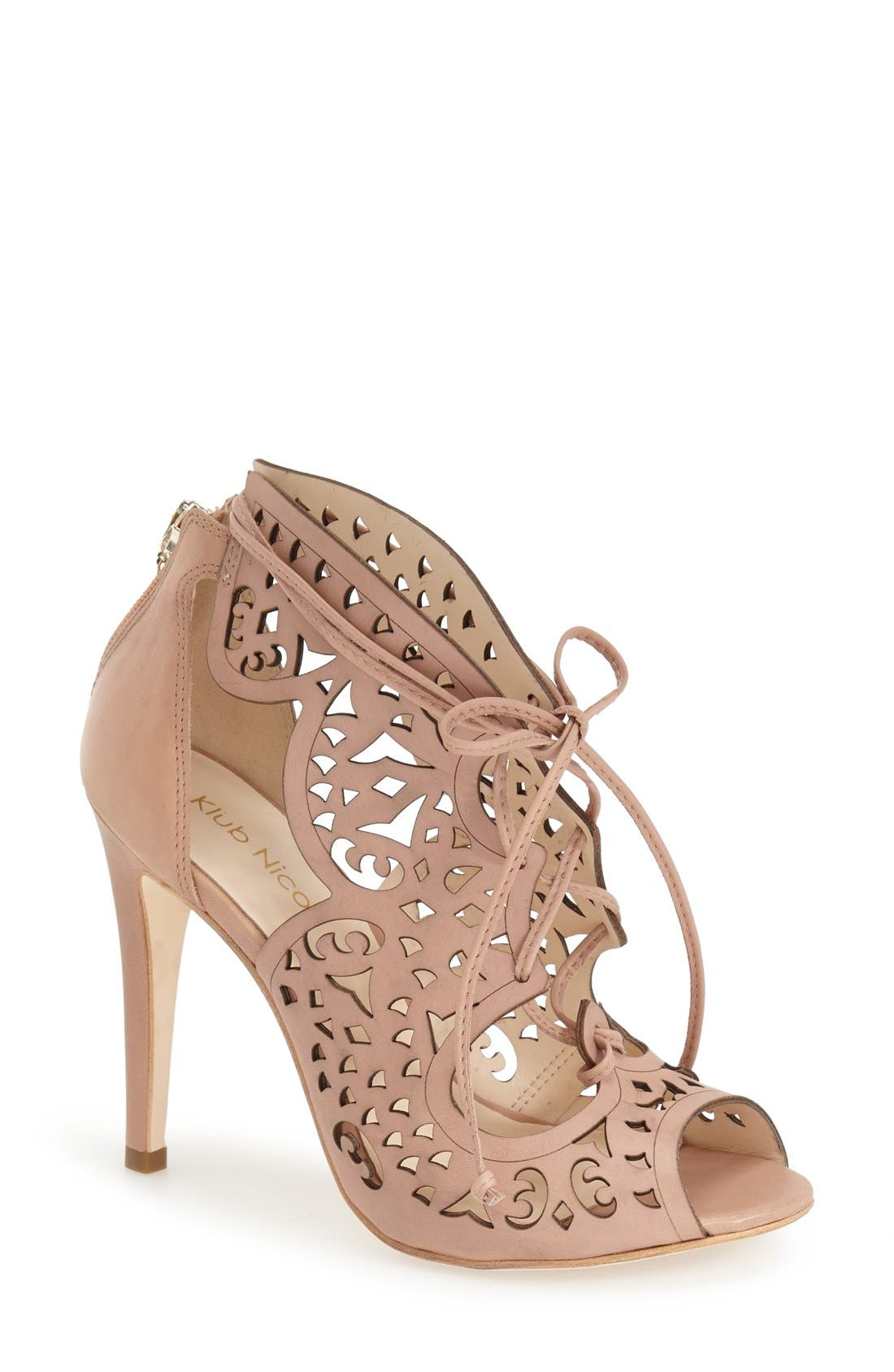 Alternate Image 1 Selected - Klub Nico 'Mariella Butterfly' Lace-Up Sandal (Women)