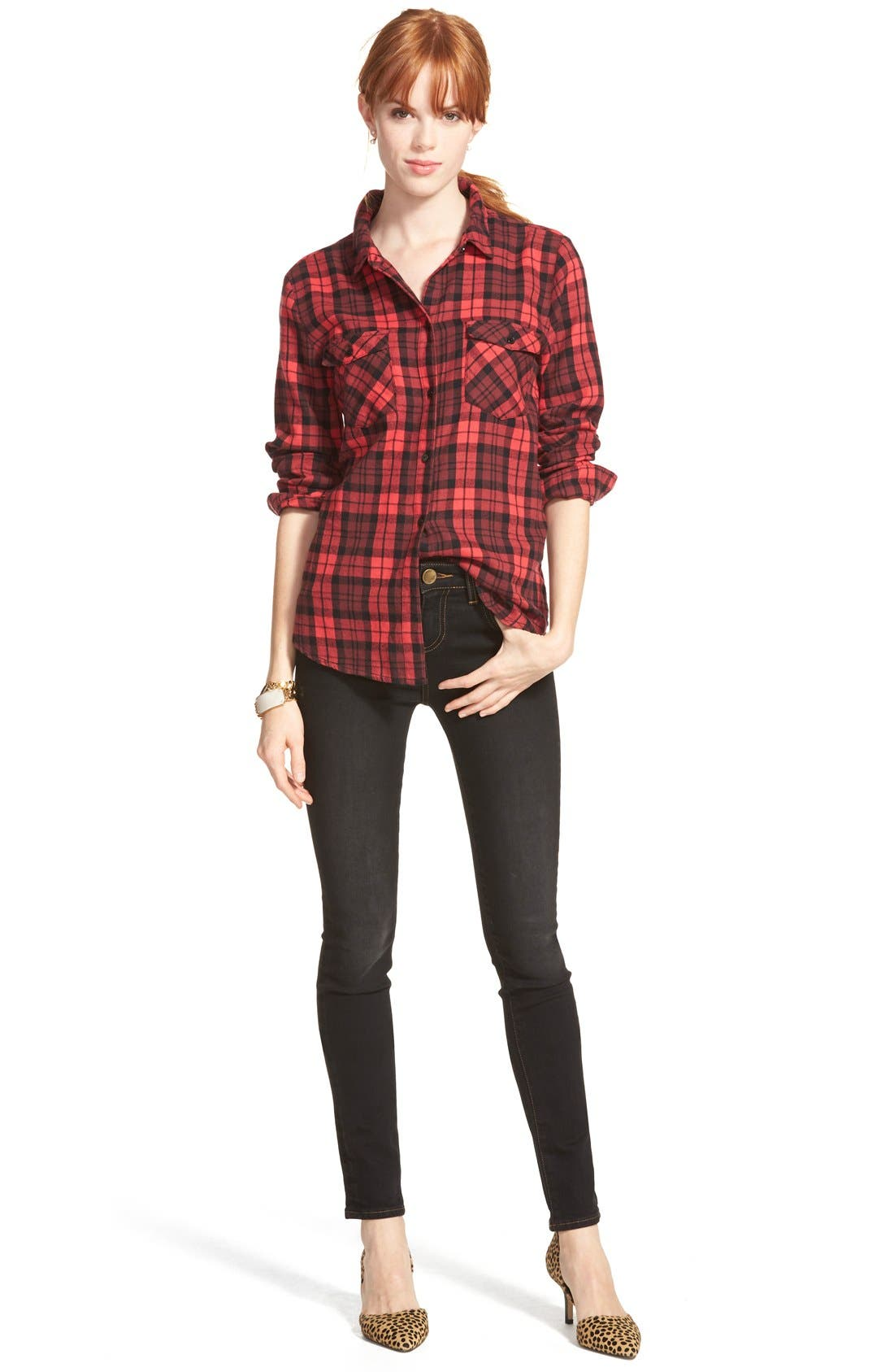 Alternate Image 5  - KUT from the Kloth 'Diana' Stretch Skinny Jeans (Black) (Regular & Petite)