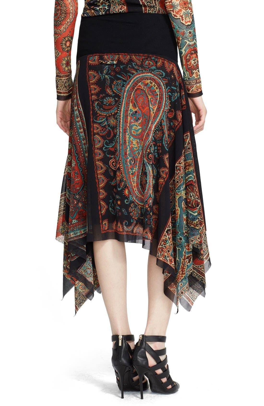 Alternate Image 2  - Jean Paul Gaultier Paisley Print Asymmetrical Tulle Skirt (Nordstrom Exclusive)