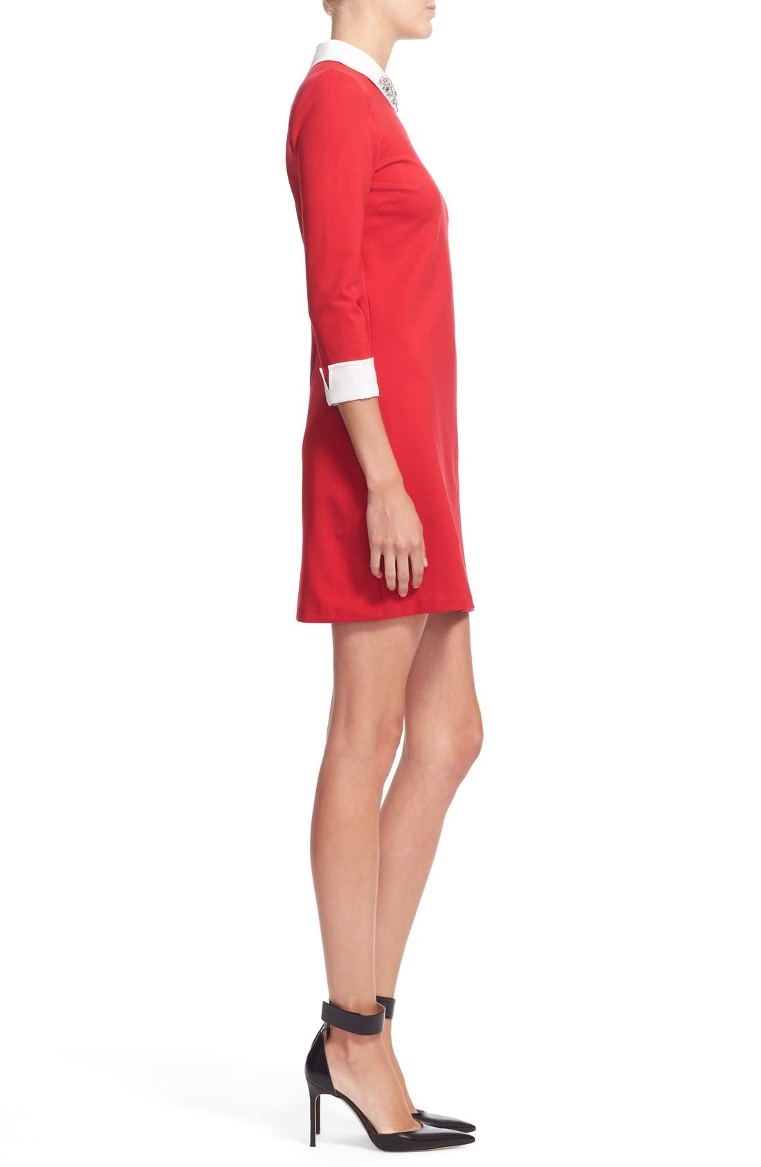 Alternate Image 4  - Ted Baker London 'Eelah' Embellished Collar Shift Dress