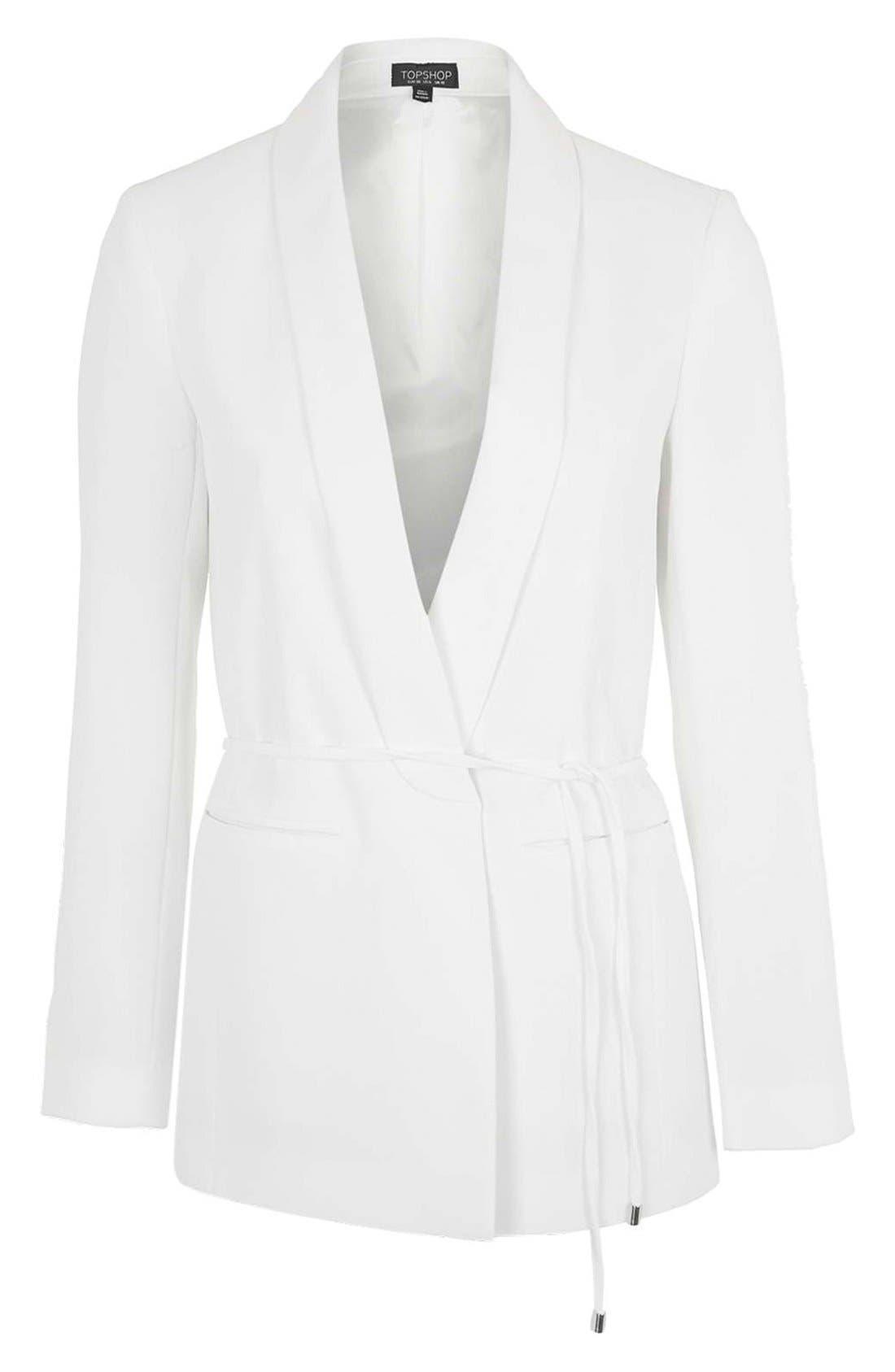 Alternate Image 4  - Topshop Belted Tuxedo Jacket