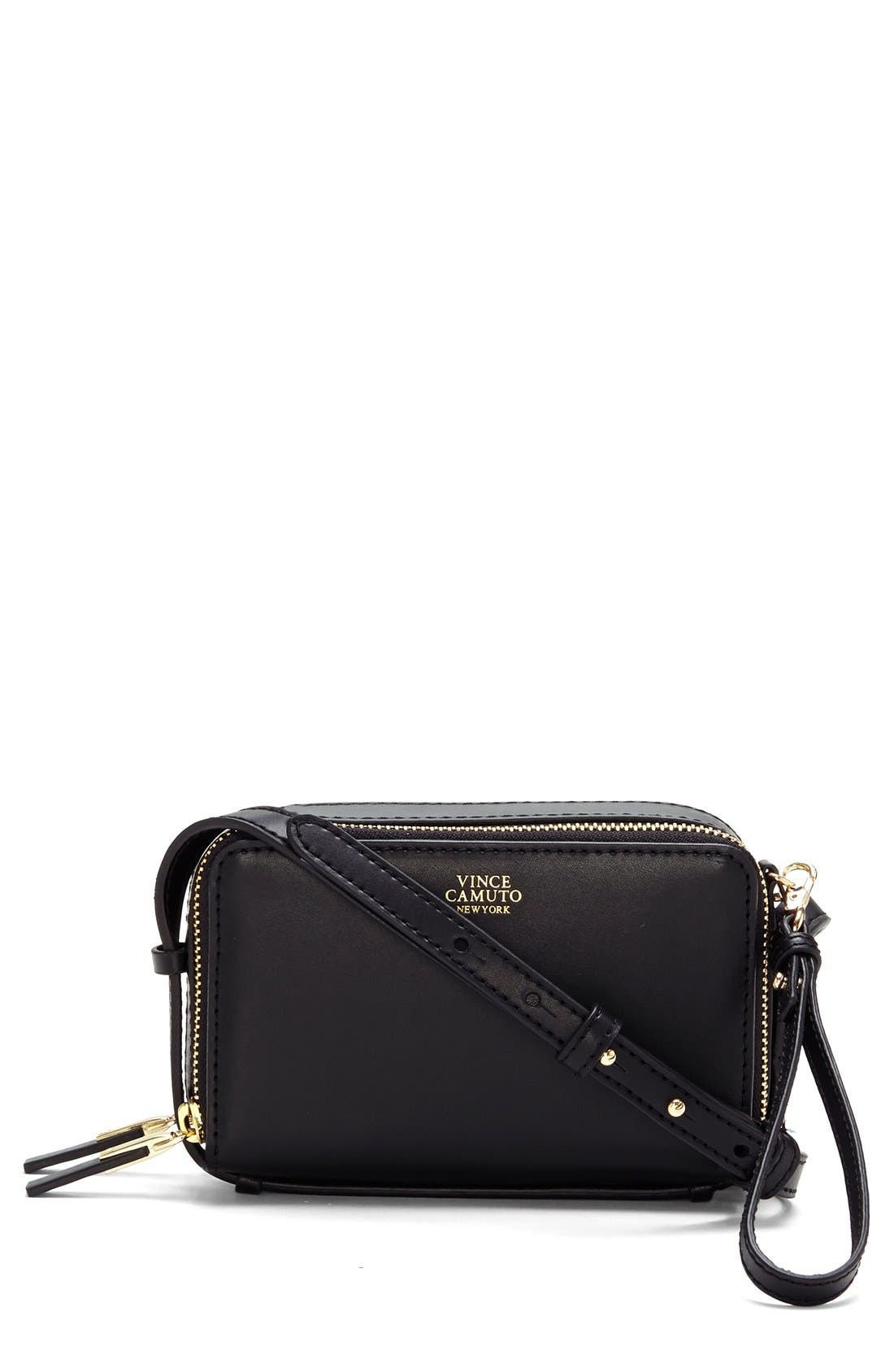 Main Image - Vince Camuto 'Brena - Small' Leather Crossbody Bag