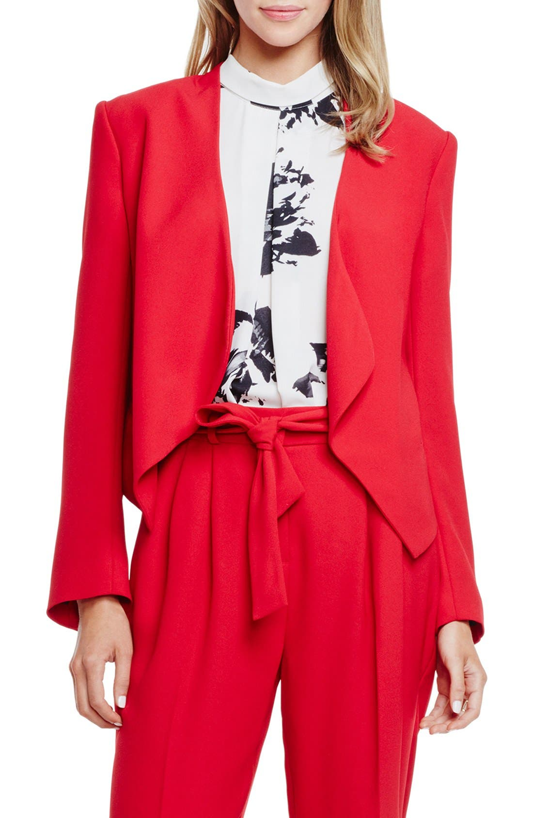 Alternate Image 1 Selected - Vince Camuto Drape Front Blazer (Regular & Petite)