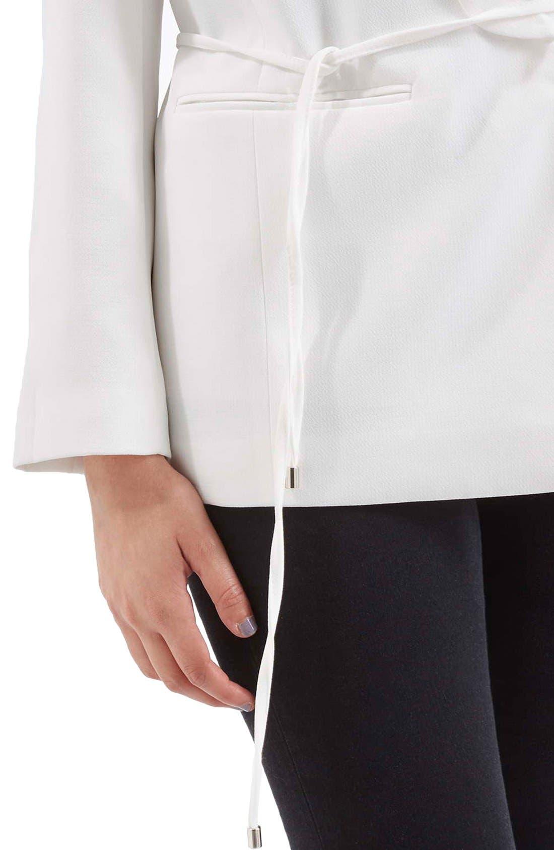 Alternate Image 5  - Topshop Belted Tuxedo Jacket