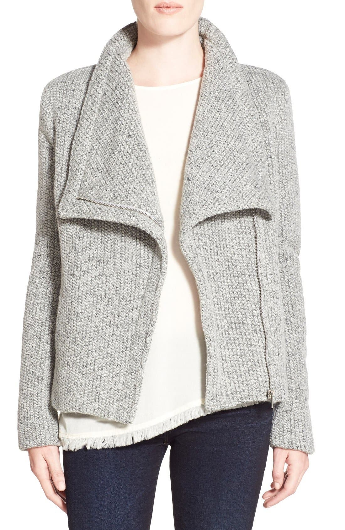 Alternate Image 1 Selected - cupcakes and cashmere 'Rue' Drape Collar Knit Jacket