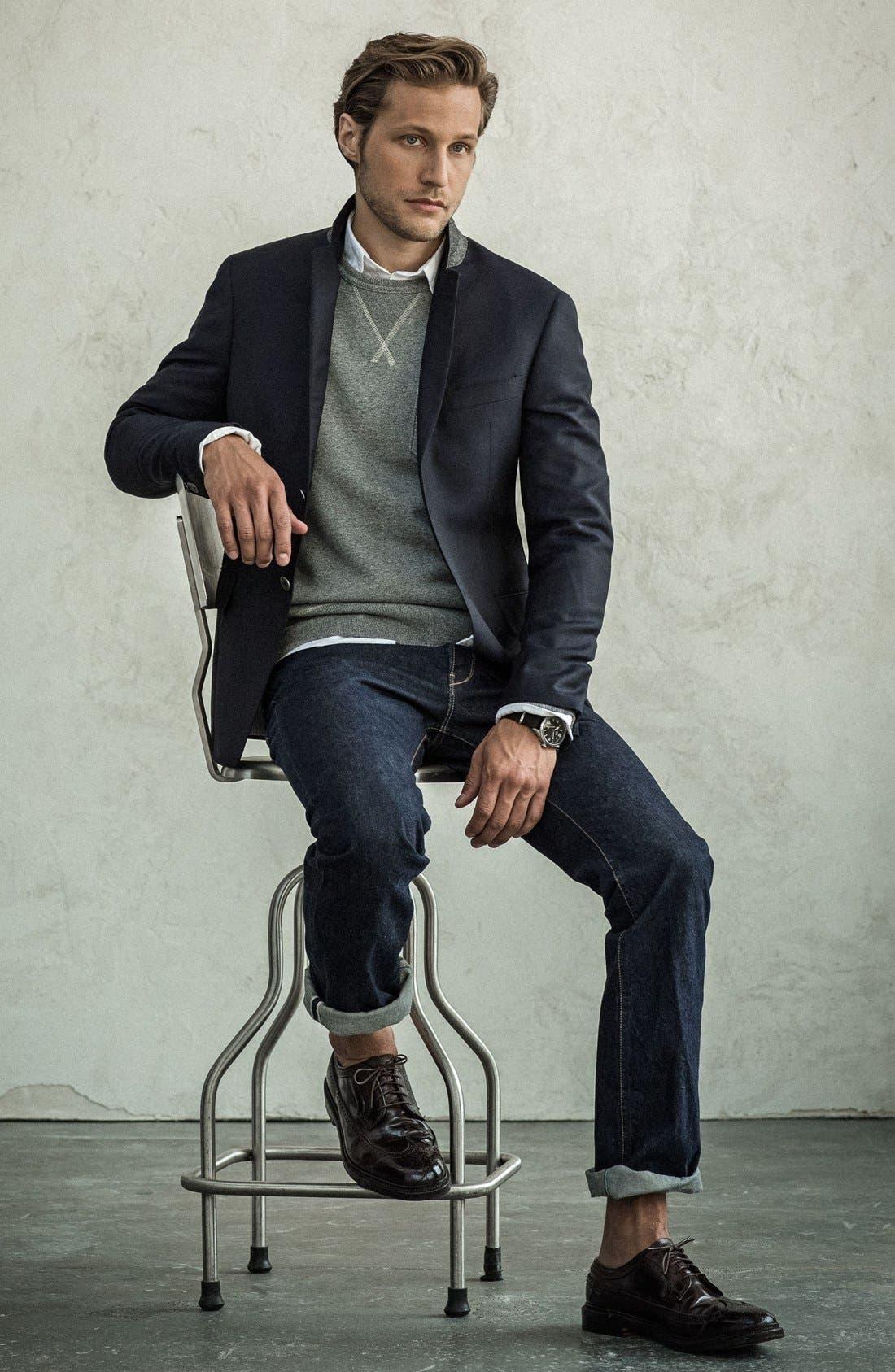 Alternate Image 4  - Todd Snyder 'May Fair' Trim Fit Wool Blazer