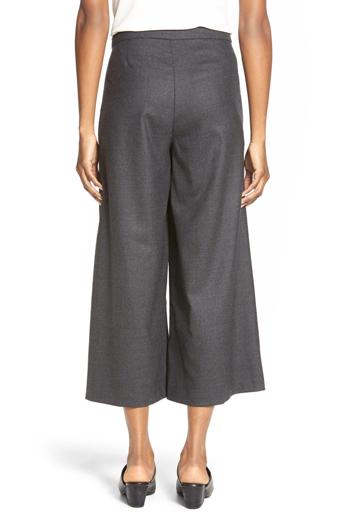 Alternate Image 2  - Eileen Fisher Wool Twill Sarong Pants  (Regular & Petite)
