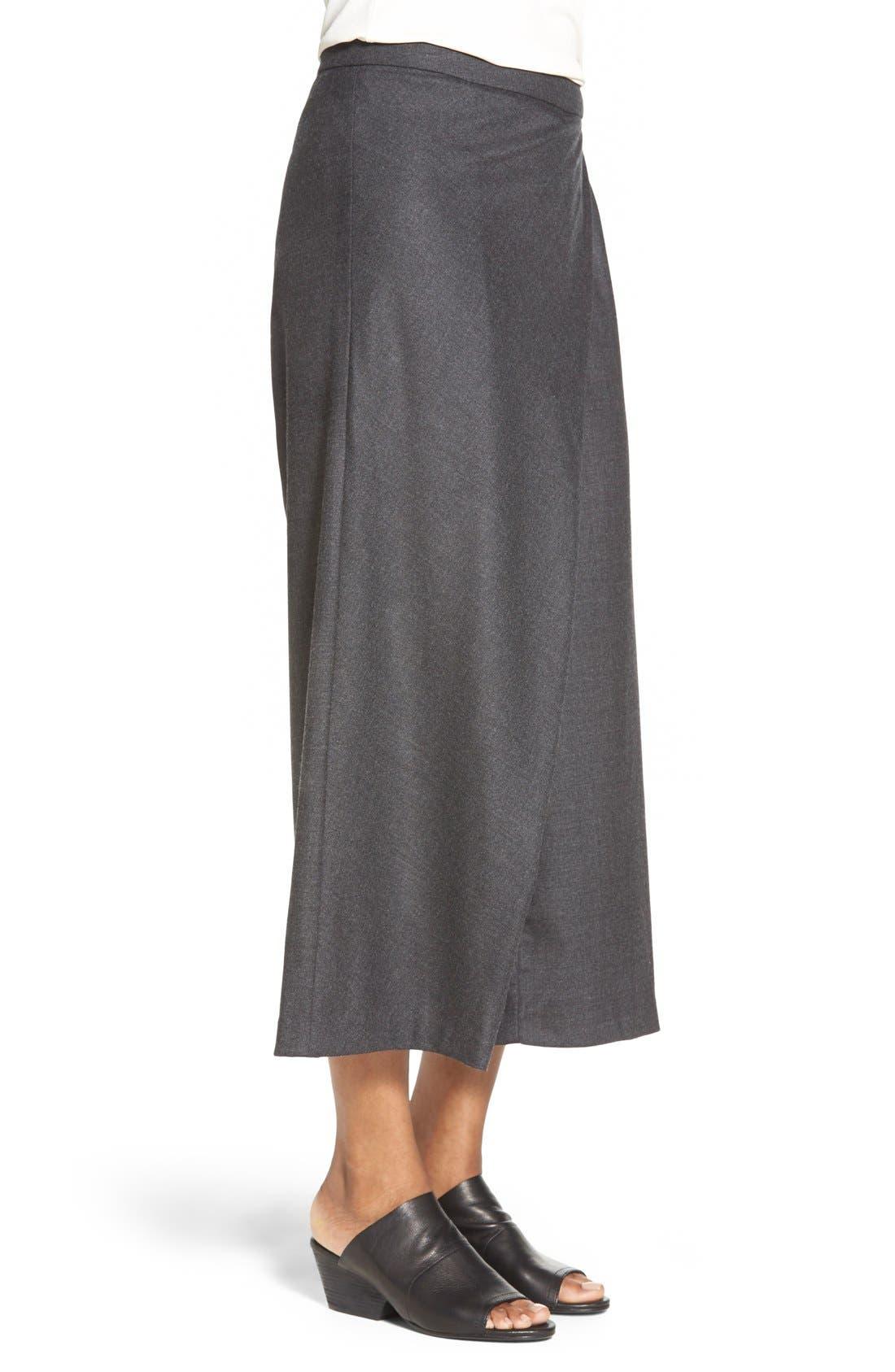 Alternate Image 3  - Eileen Fisher Wool Twill Sarong Pants  (Regular & Petite)