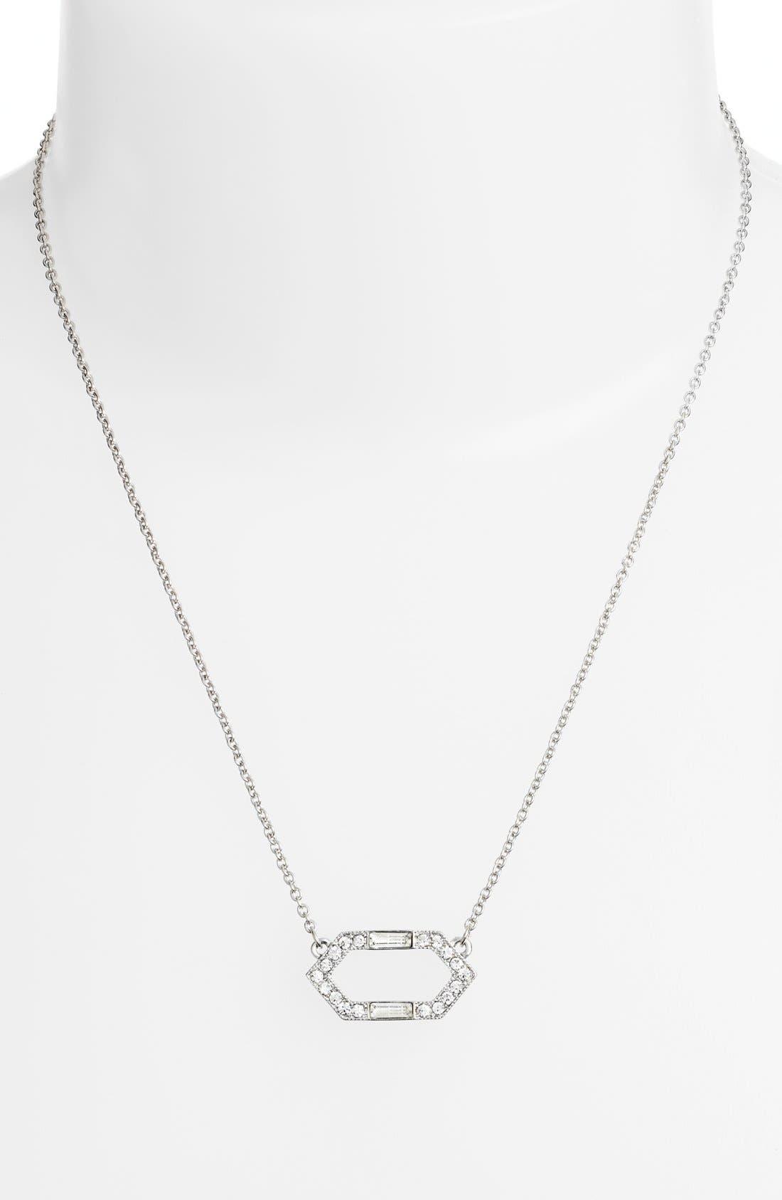 Alternate Image 2  - Lauren Ralph Lauren Crystal Pendant Necklace