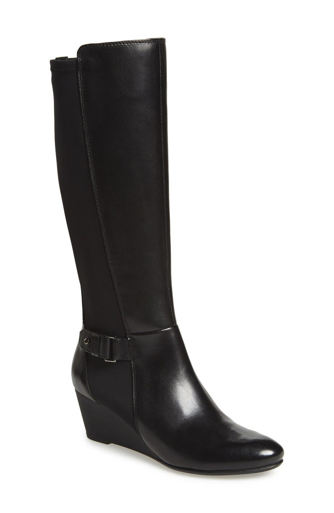 Alternate Image 1 Selected - Geox'Venere' Tall Wedge Boot (Women)