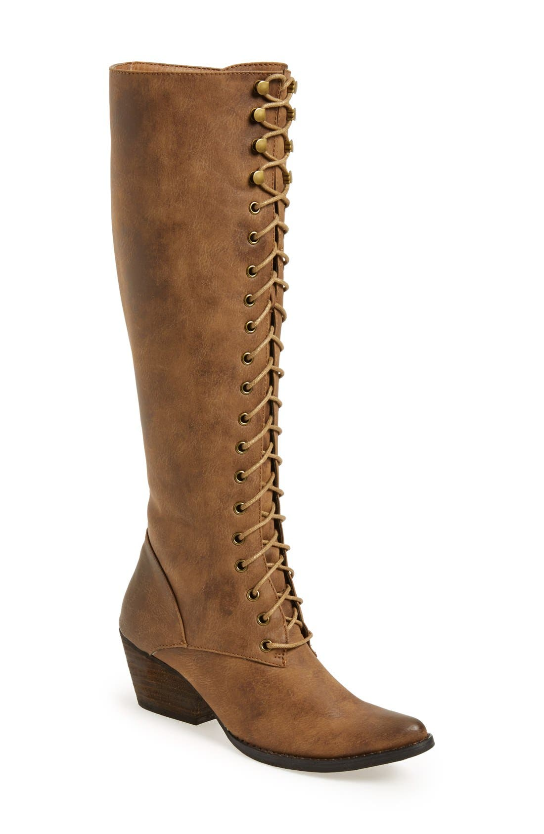 Alternate Image 1 Selected - Very Volatile 'Clementine' Lace-Up Boot (Women)