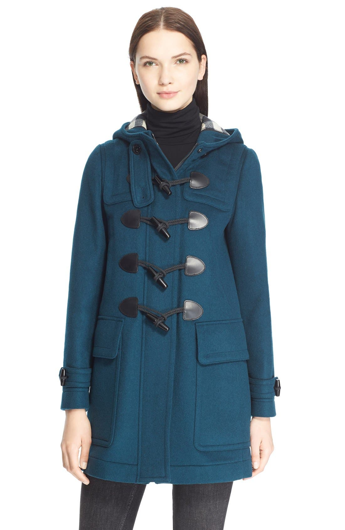 Alternate Image 1 Selected - Burberry Brit 'Finsdale' Wool Duffle Coat
