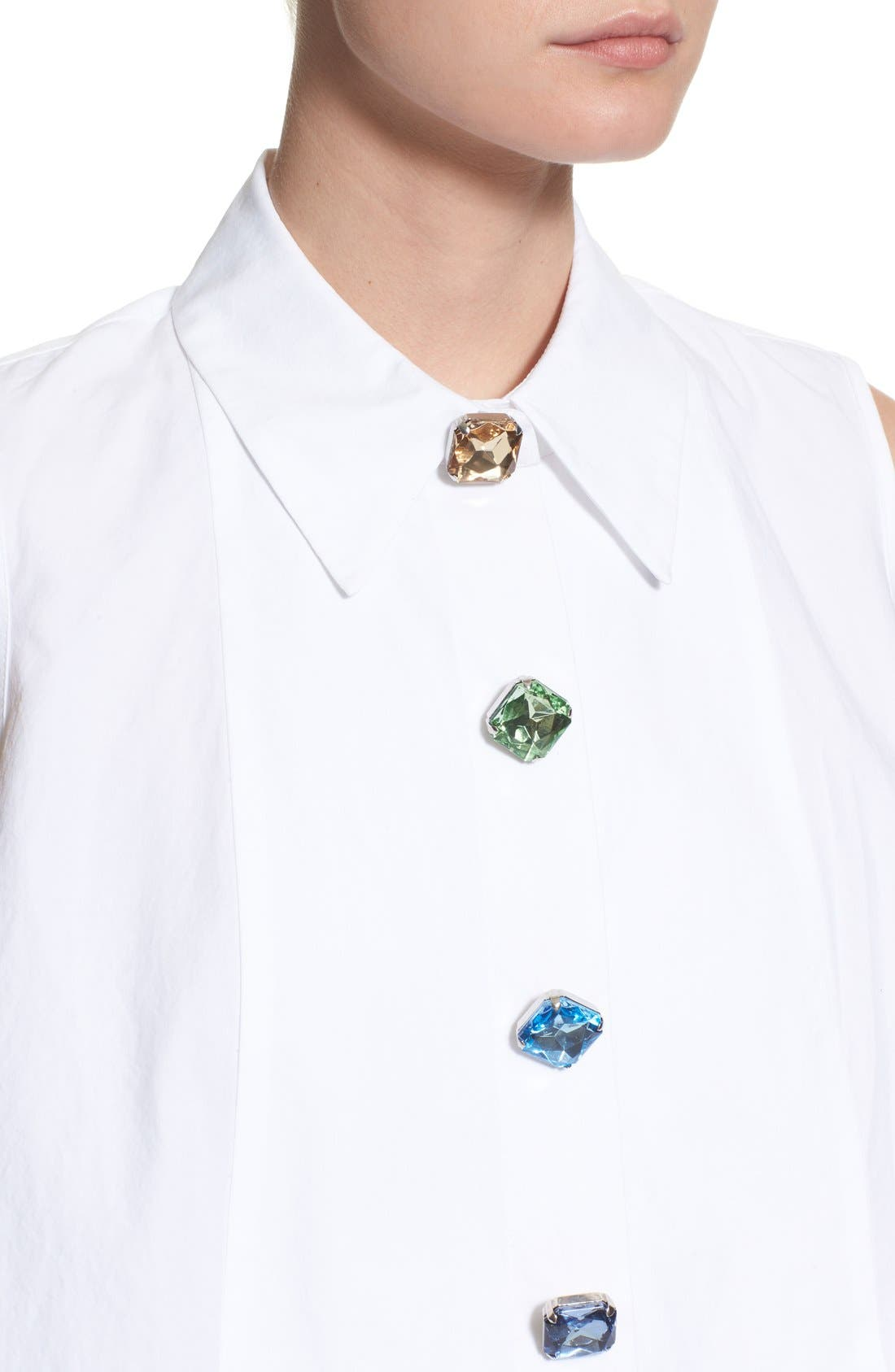 Alternate Image 6  - Isa Arfen Sleeveless A-Line Shirt