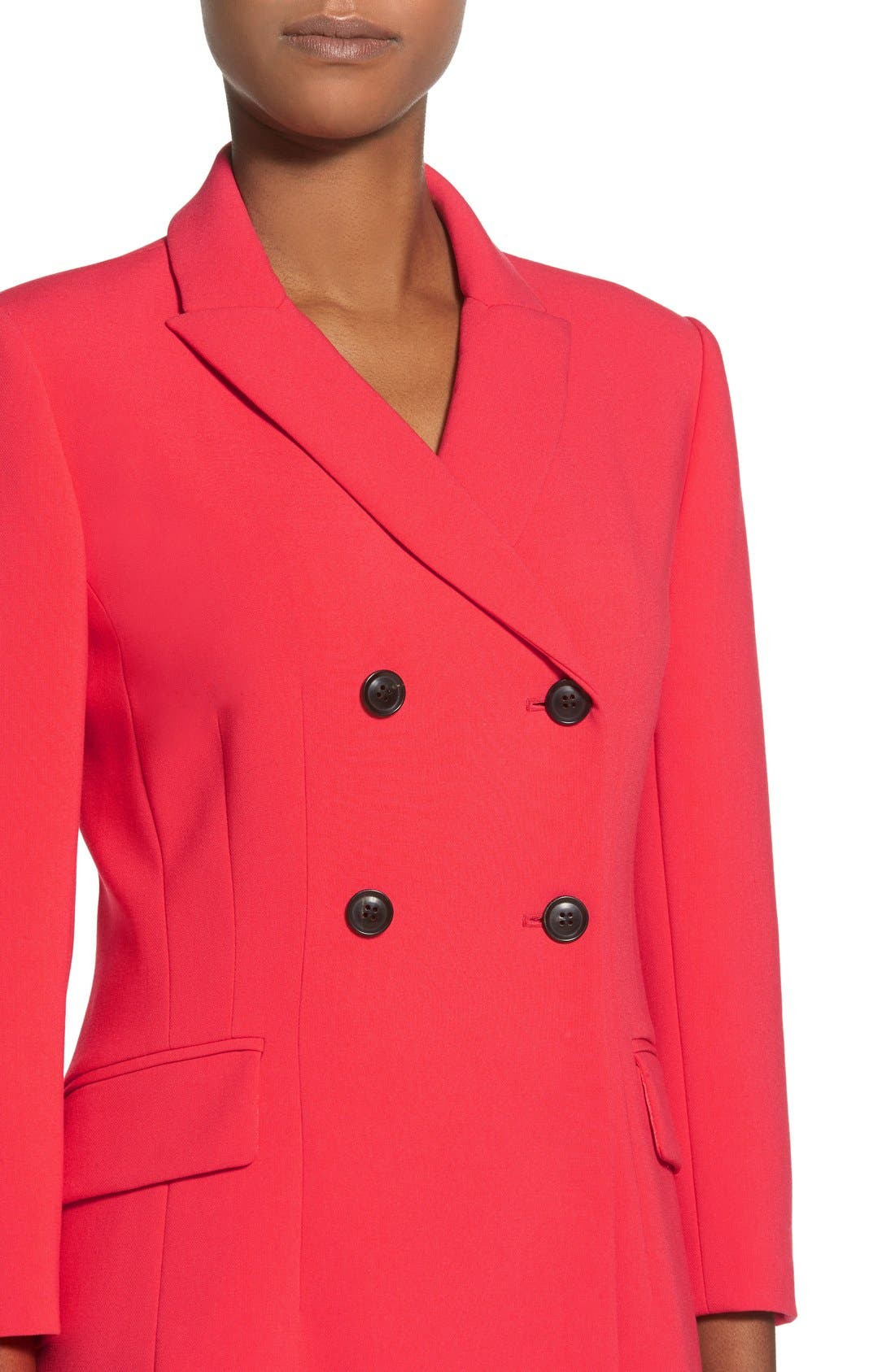 Alternate Image 4  - Ellen Tracy Double Weave Coatdress (Regular & Petite)