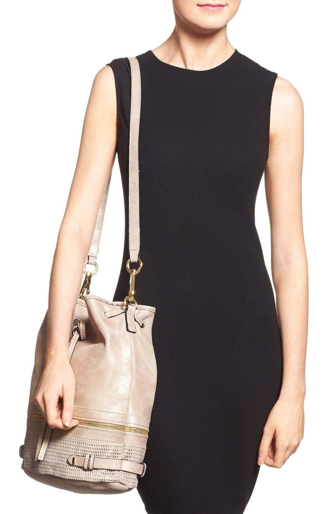 Alternate Image 2  - She + Lo 'Silver Lining' Drawstring Shoulder Bag