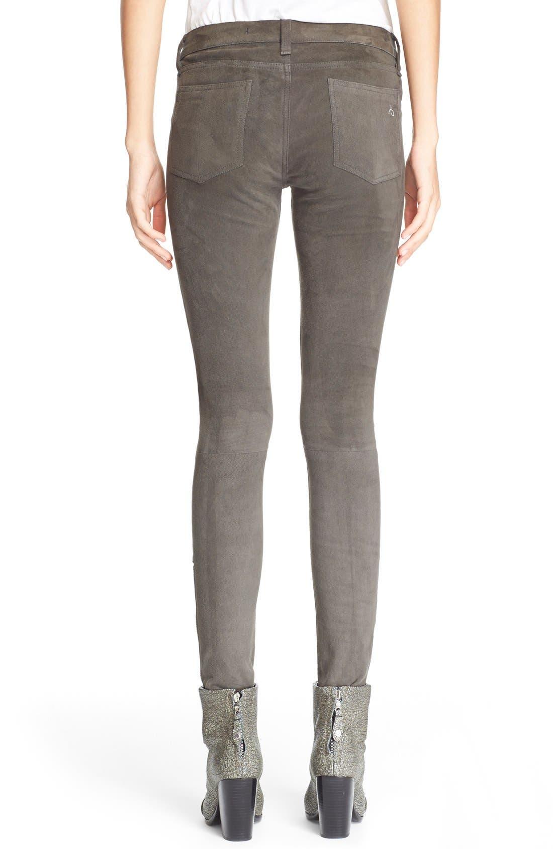 Alternate Image 2  - rag & bone/JEAN 'RBW23' Suede Skinny Pants