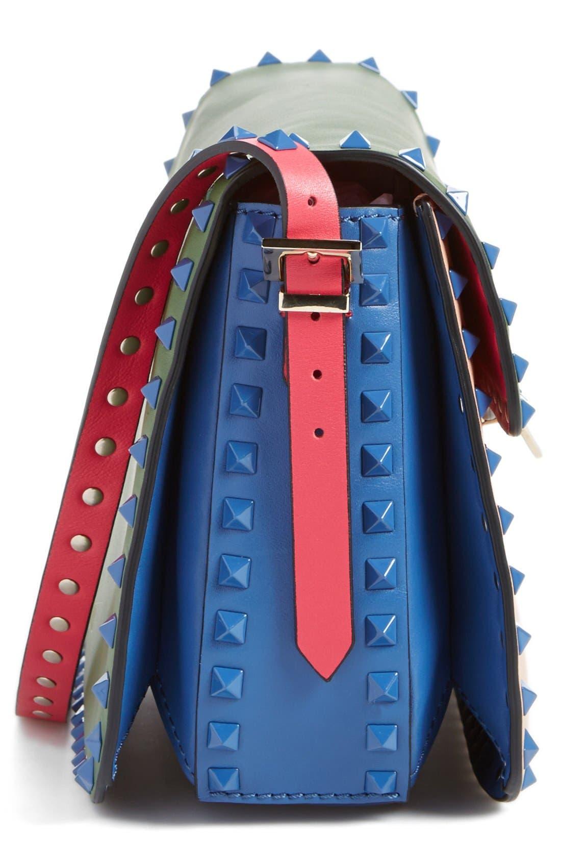 Alternate Image 4  - Valentino 'Rockstud' Colorblock Shoulder Bag