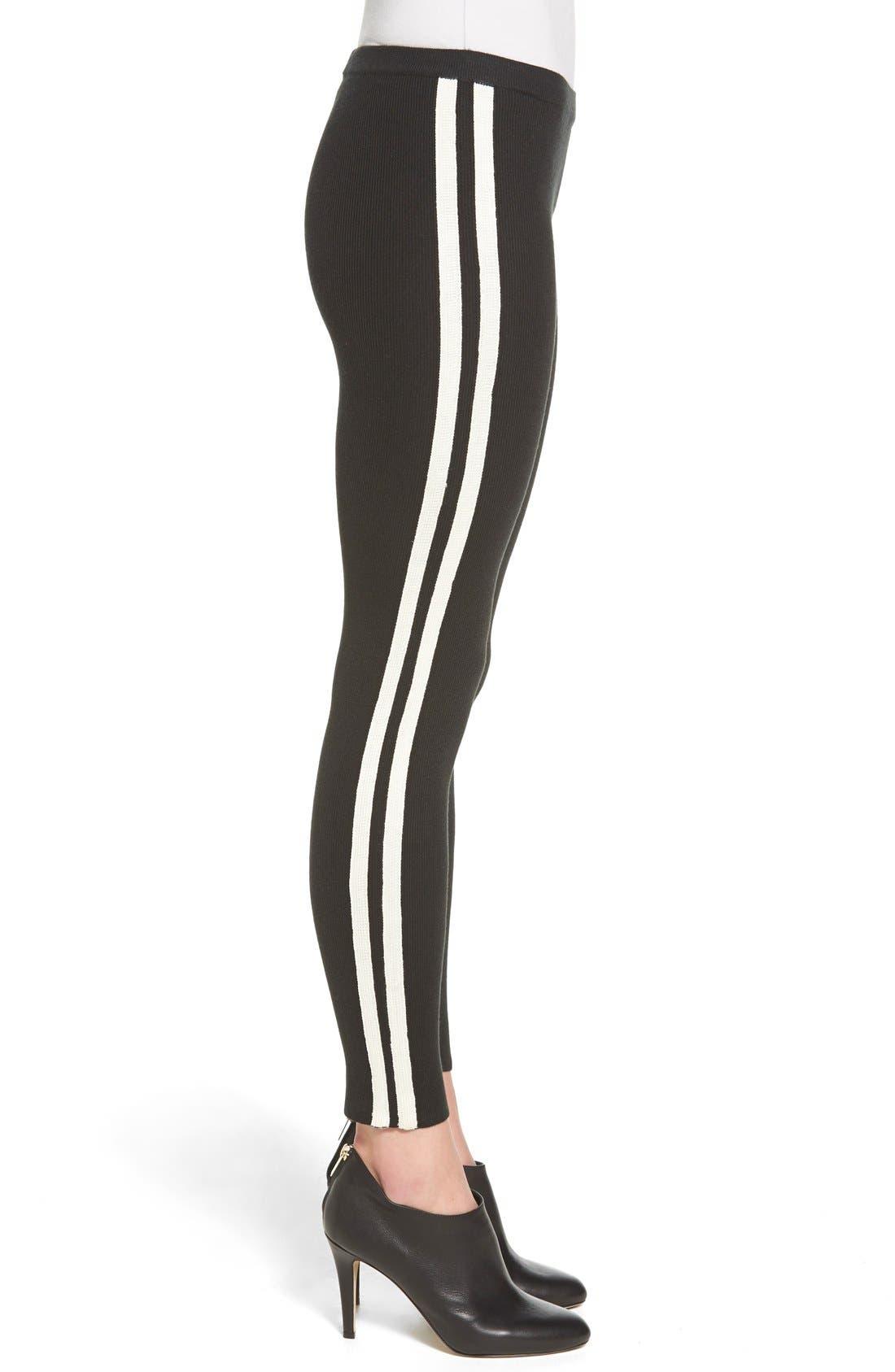 Alternate Image 3  - Hue Racer Stripe Sweater Leggings