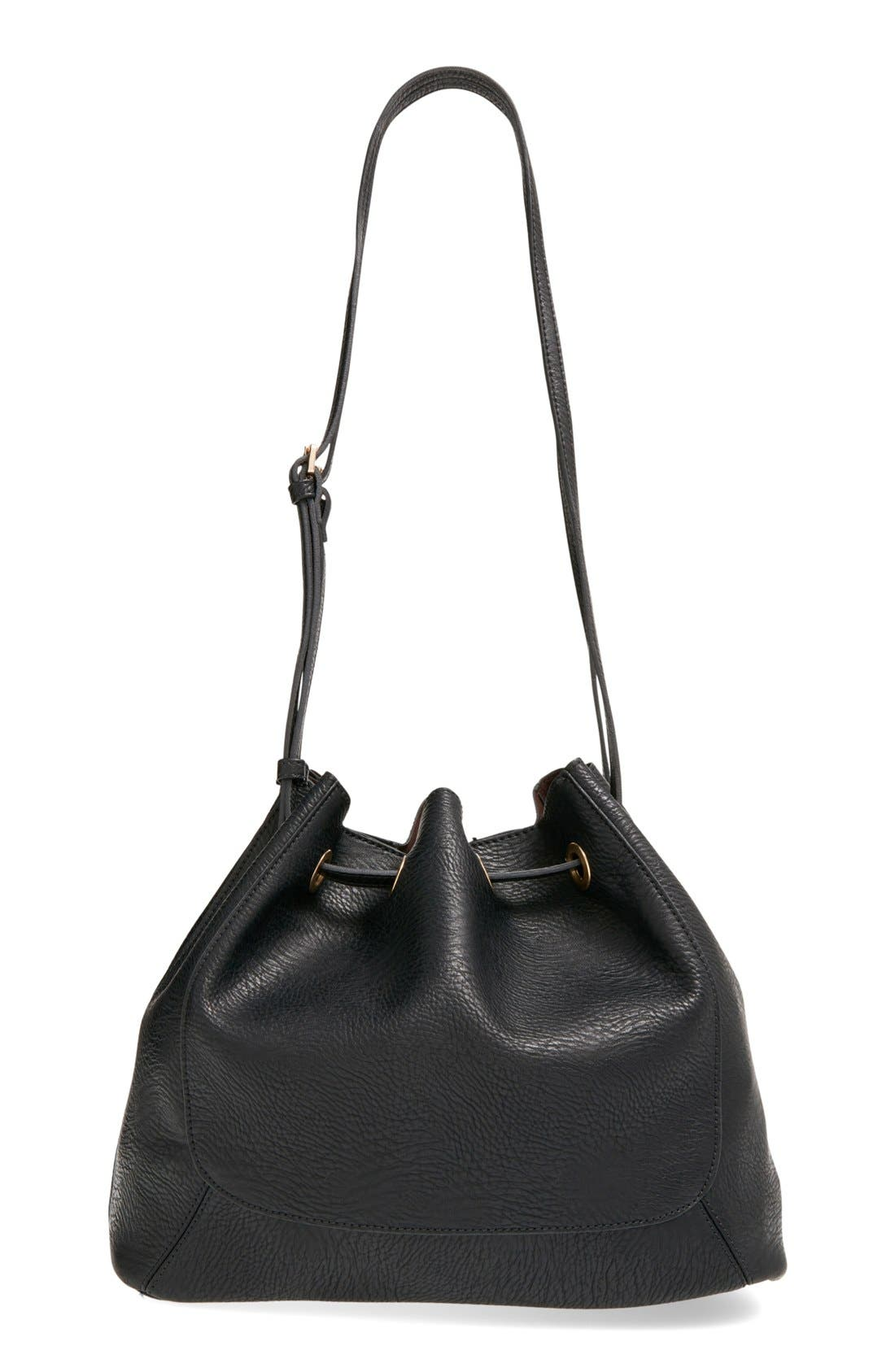 Main Image - Street Level Faux Leather Shoulder Bag