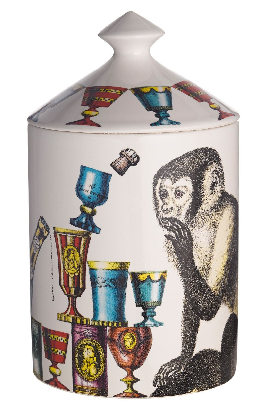 Alternate Image 1 Selected - Fornasetti 'Scimmie - Otto' Lidded Candle