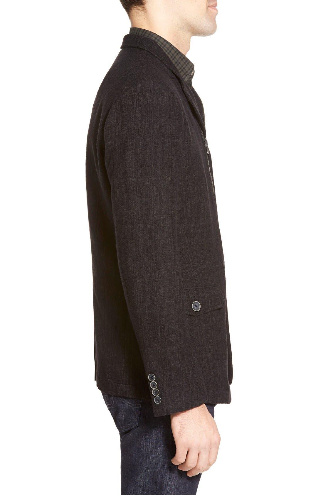 Alternate Image 3  - John Varvatos Star USA Notch Lapel Moto Jacket